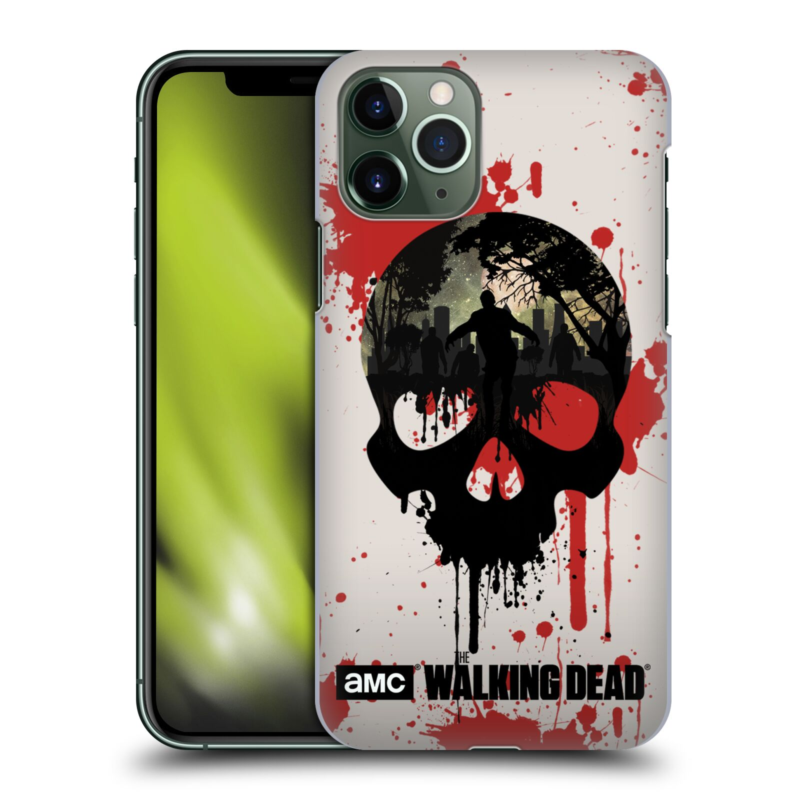 karl krytu na iphone xs - Plastové pouzdro na mobil Apple iPhone 11 Pro - Head Case - Živí mrtví - Lebka