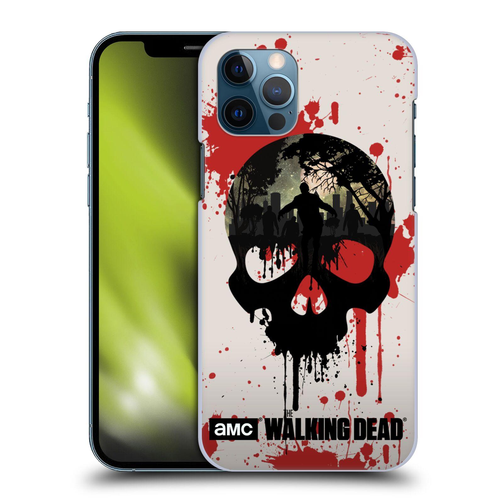 Plastové pouzdro na mobil Apple iPhone 12 / 12 Pro - Head Case - Živí mrtví - Lebka