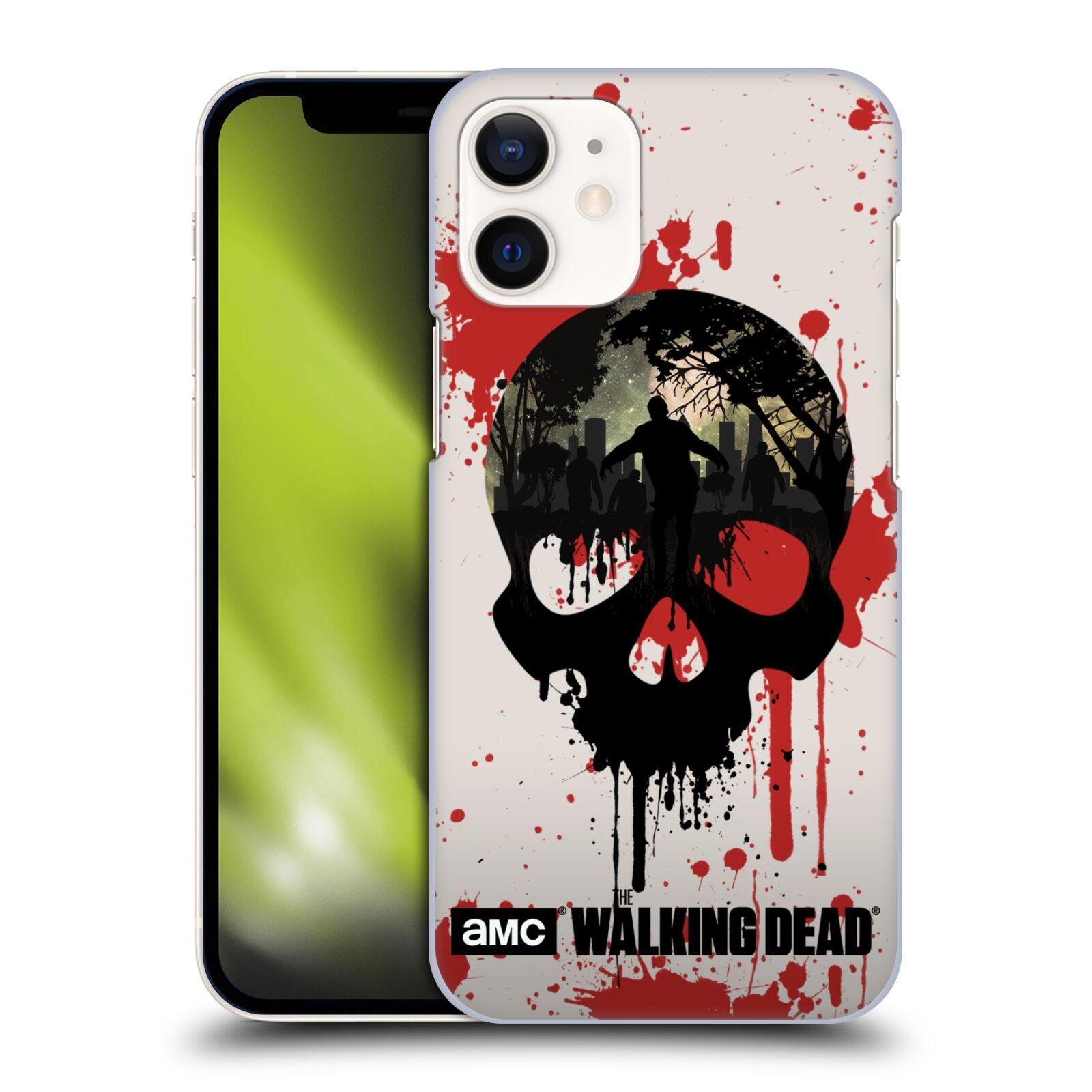 Plastové pouzdro na mobil Apple iPhone 12 Mini - Head Case - Živí mrtví - Lebka