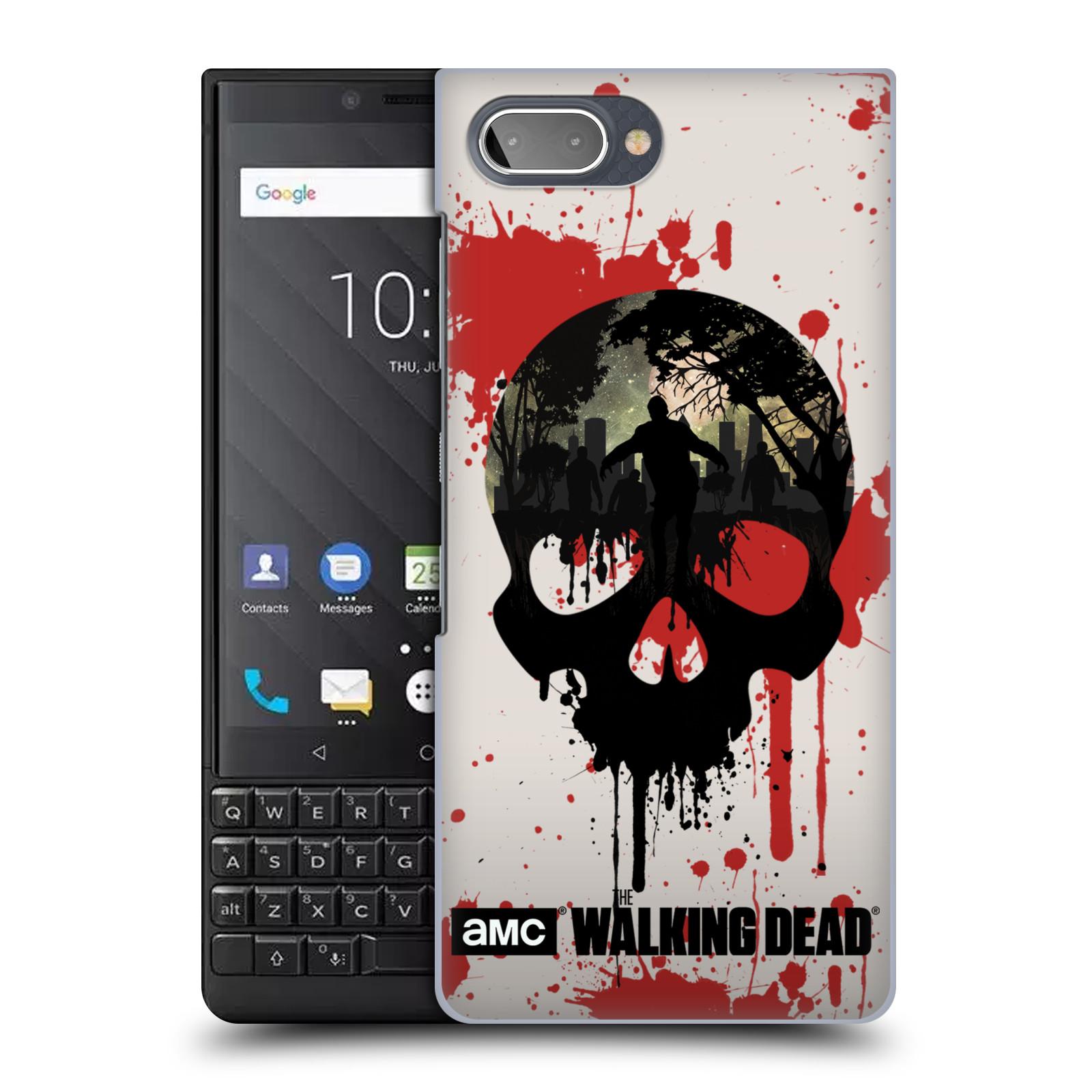 Plastové pouzdro na mobil Blackberry Key 2 - Head Case - Živí mrtví - Lebka