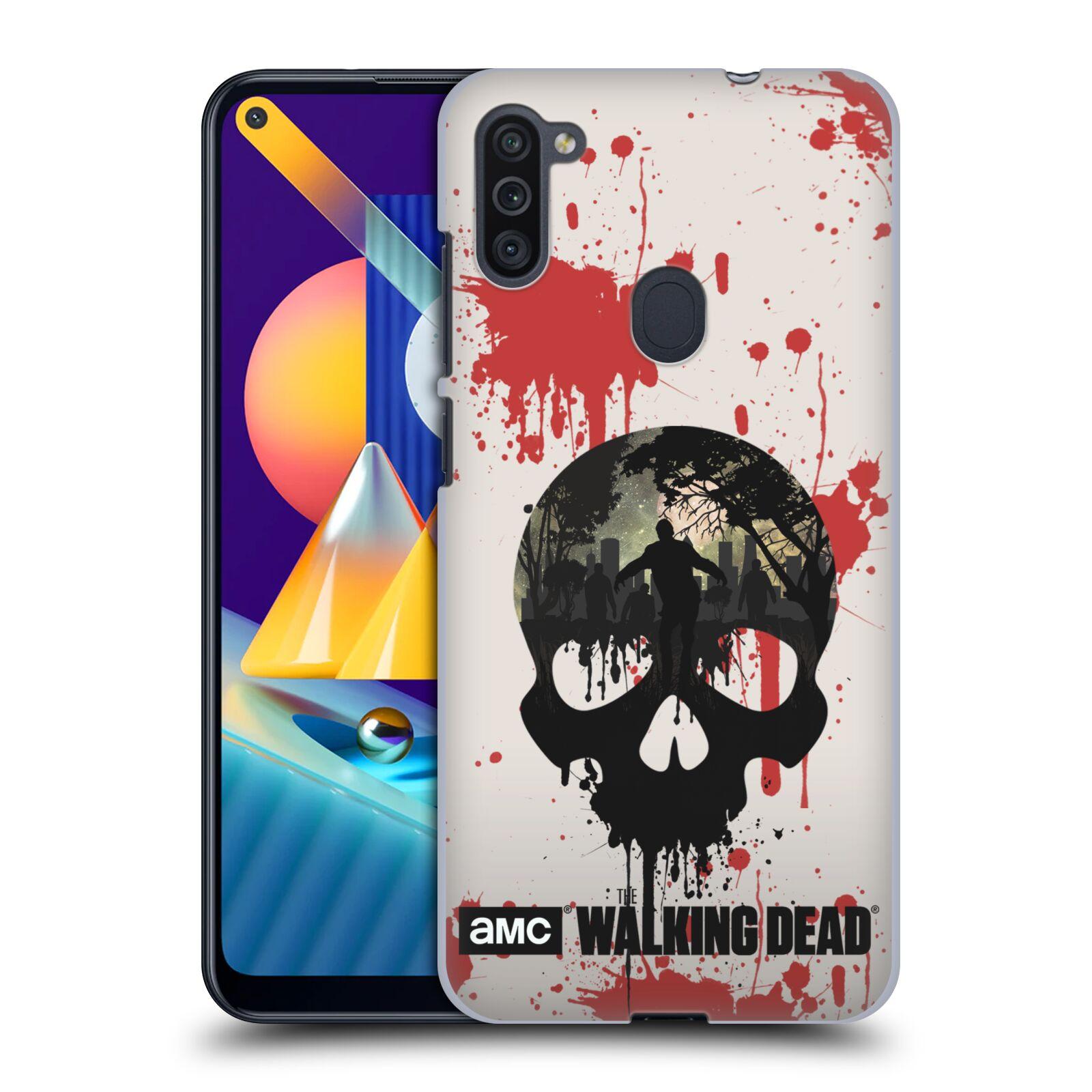Plastové pouzdro na mobil Samsung Galaxy M11 - Head Case - Živí mrtví - Lebka
