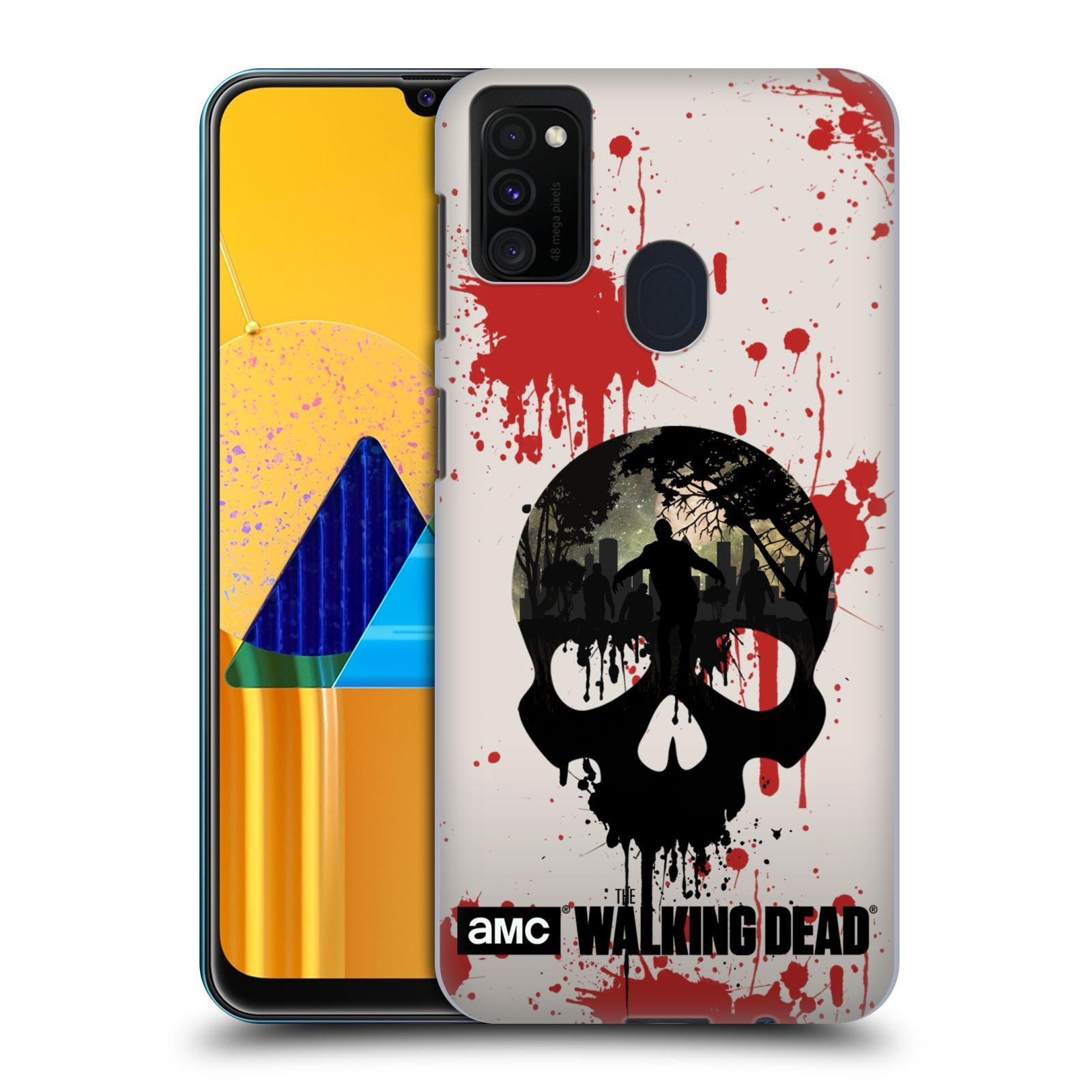 Plastové pouzdro na mobil Samsung Galaxy M21 - Head Case - Živí mrtví - Lebka