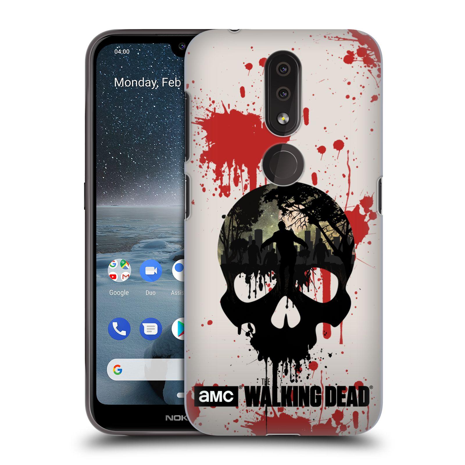 Plastové pouzdro na mobil Nokia 4.2 - Head Case - Živí mrtví - Lebka