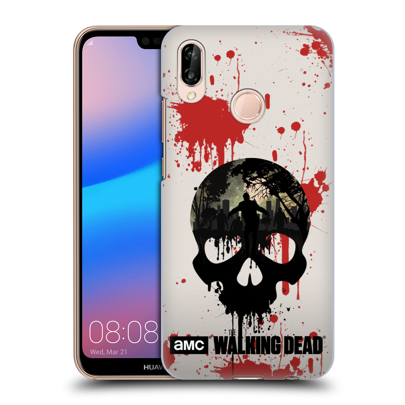 Plastové pouzdro na mobil Huawei P20 Lite - Head Case - Živí mrtví - Lebka