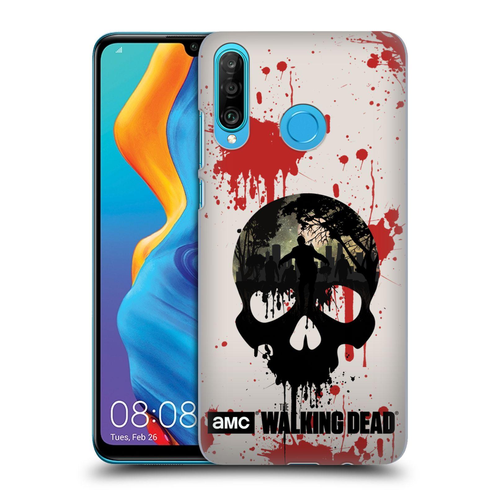 Plastové pouzdro na mobil Huawei P30 Lite - Head Case - Živí mrtví - Lebka