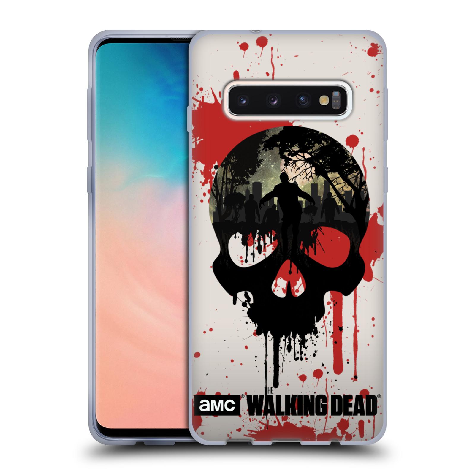 Silikonové pouzdro na mobil Samsung Galaxy S10 - Head Case - Živí mrtví - Lebka