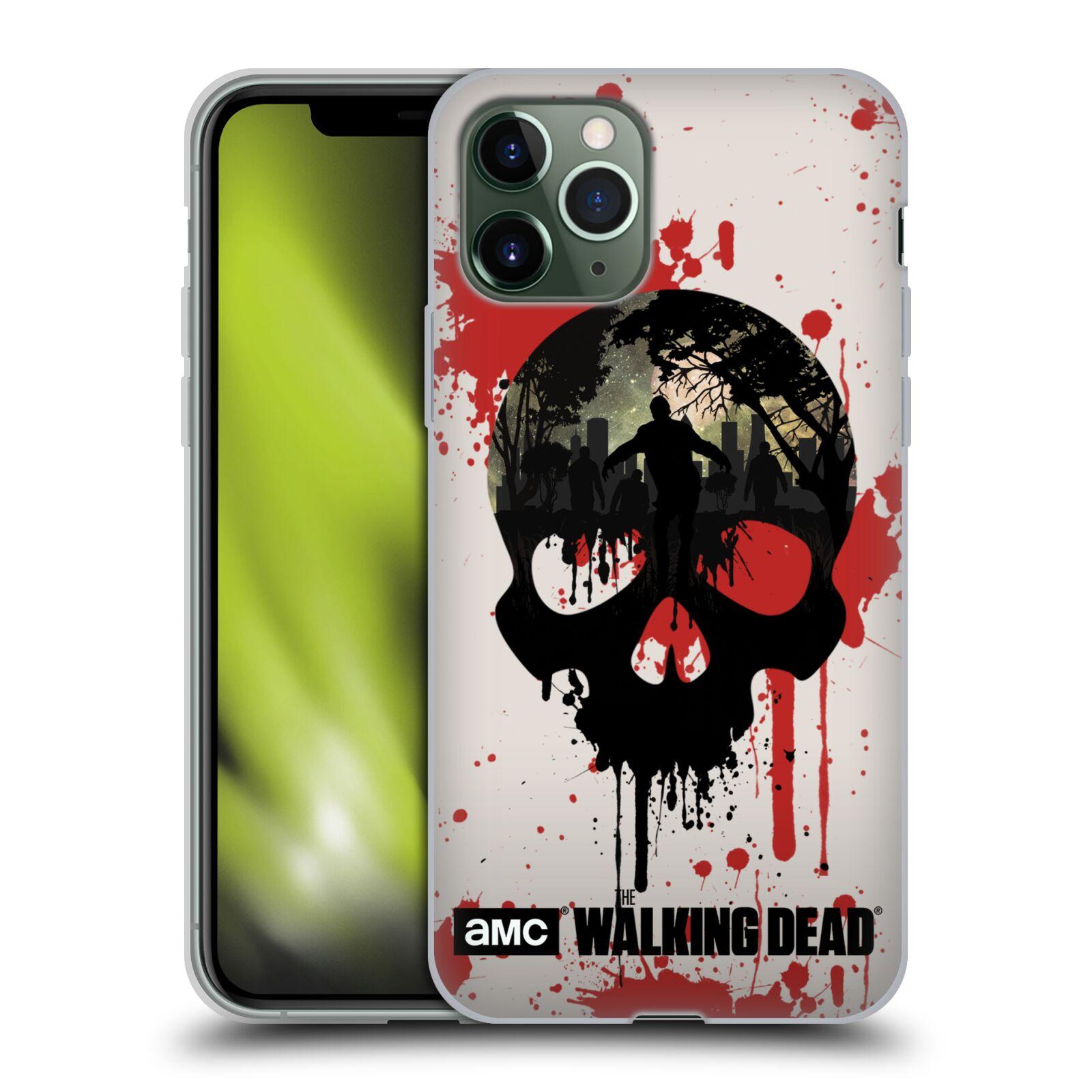 kryt na iphone 8 karl - Silikonové pouzdro na mobil Apple iPhone 11 Pro - Head Case - Živí mrtví - Lebka