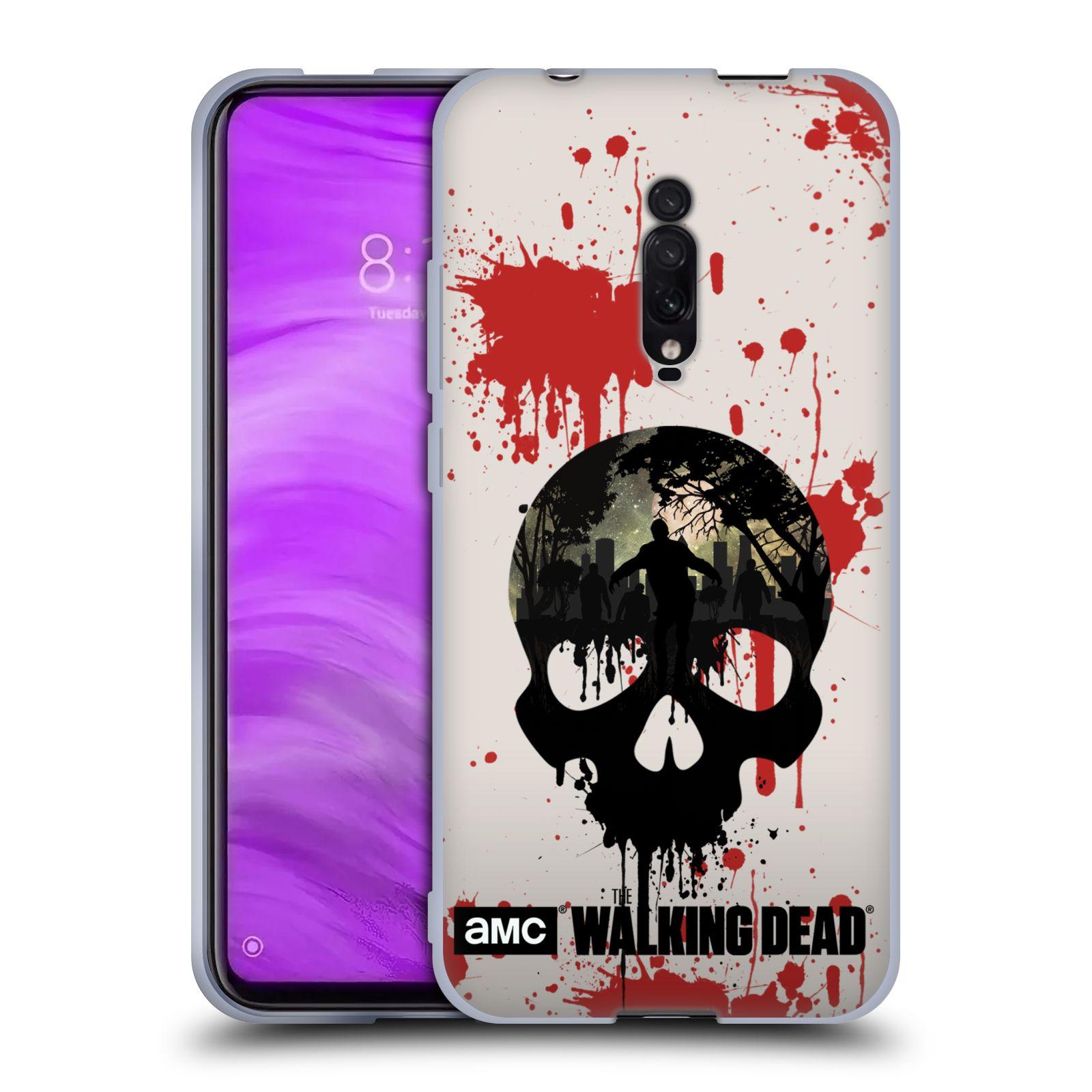Silikonové pouzdro na mobil Xiaomi Mi 9T - Head Case - Živí mrtví - Lebka