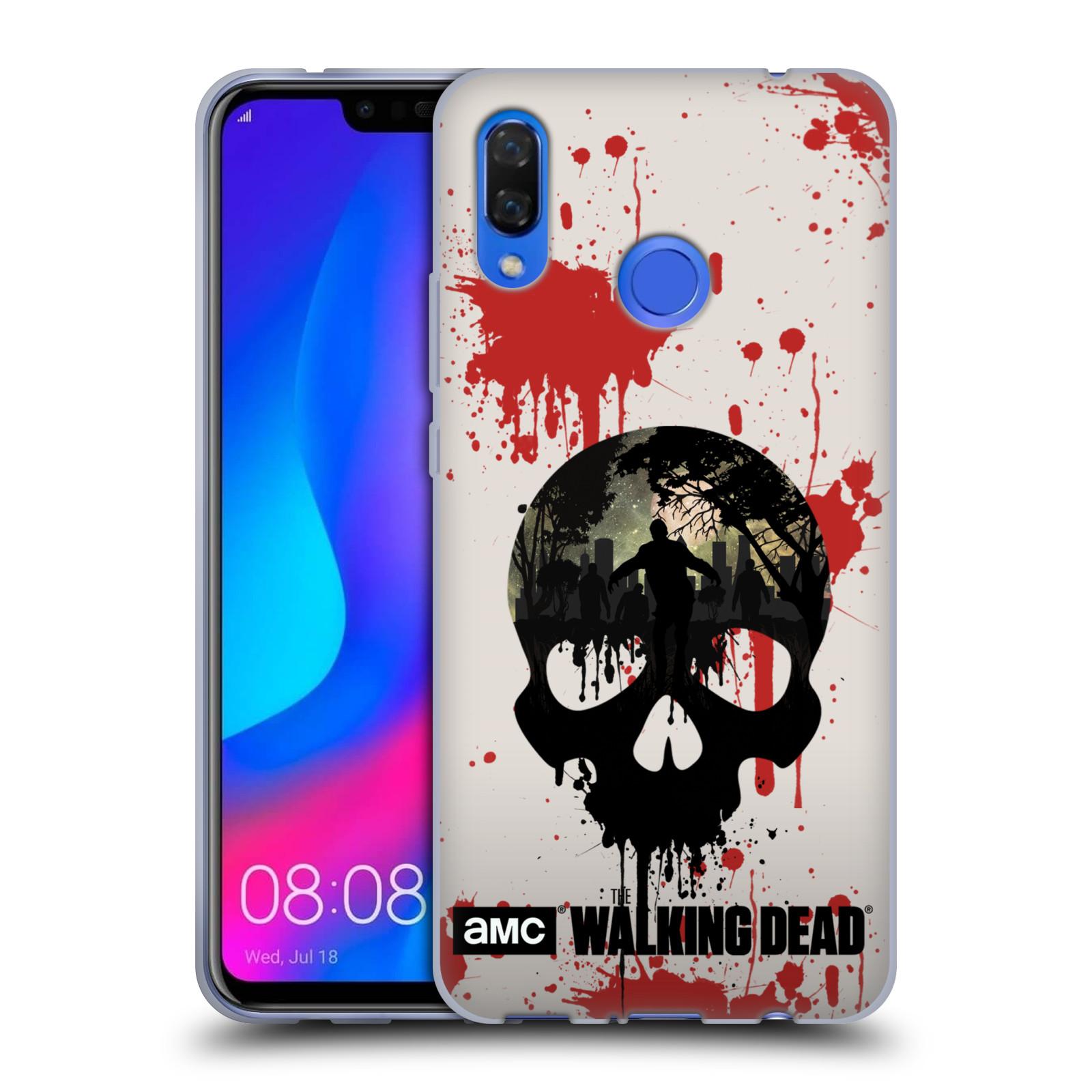 Silikonové pouzdro na mobil Huawei Nova 3 - Head Case - Živí mrtví - Lebka