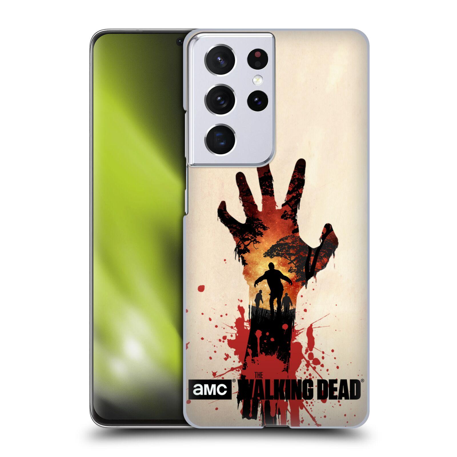 Plastové pouzdro na mobil Samsung Galaxy S21 Ultra 5G - Head Case - Živí mrtví - Ruka