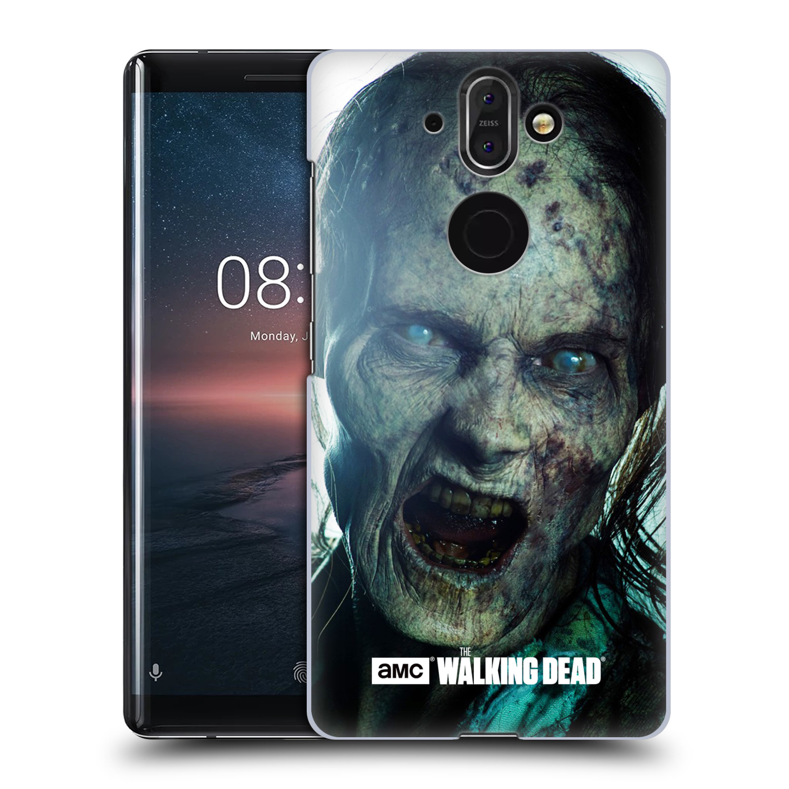 Plastové pouzdro na mobil Nokia 8 Sirocco - Head Case - The Walking Dead - Walker Bite