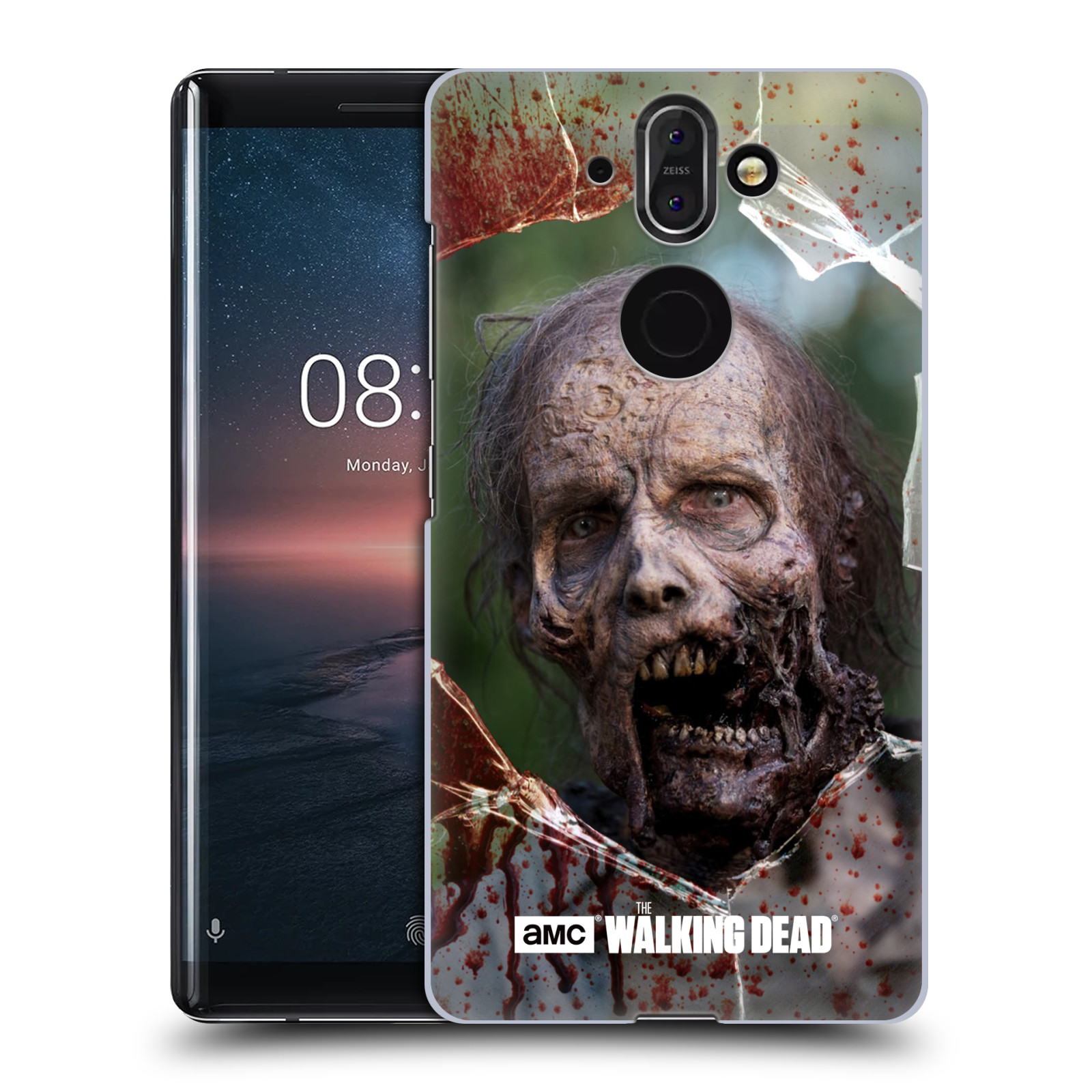 Plastové pouzdro na mobil Nokia 8 Sirocco - Head Case - The Walking Dead - Walkers Jaw