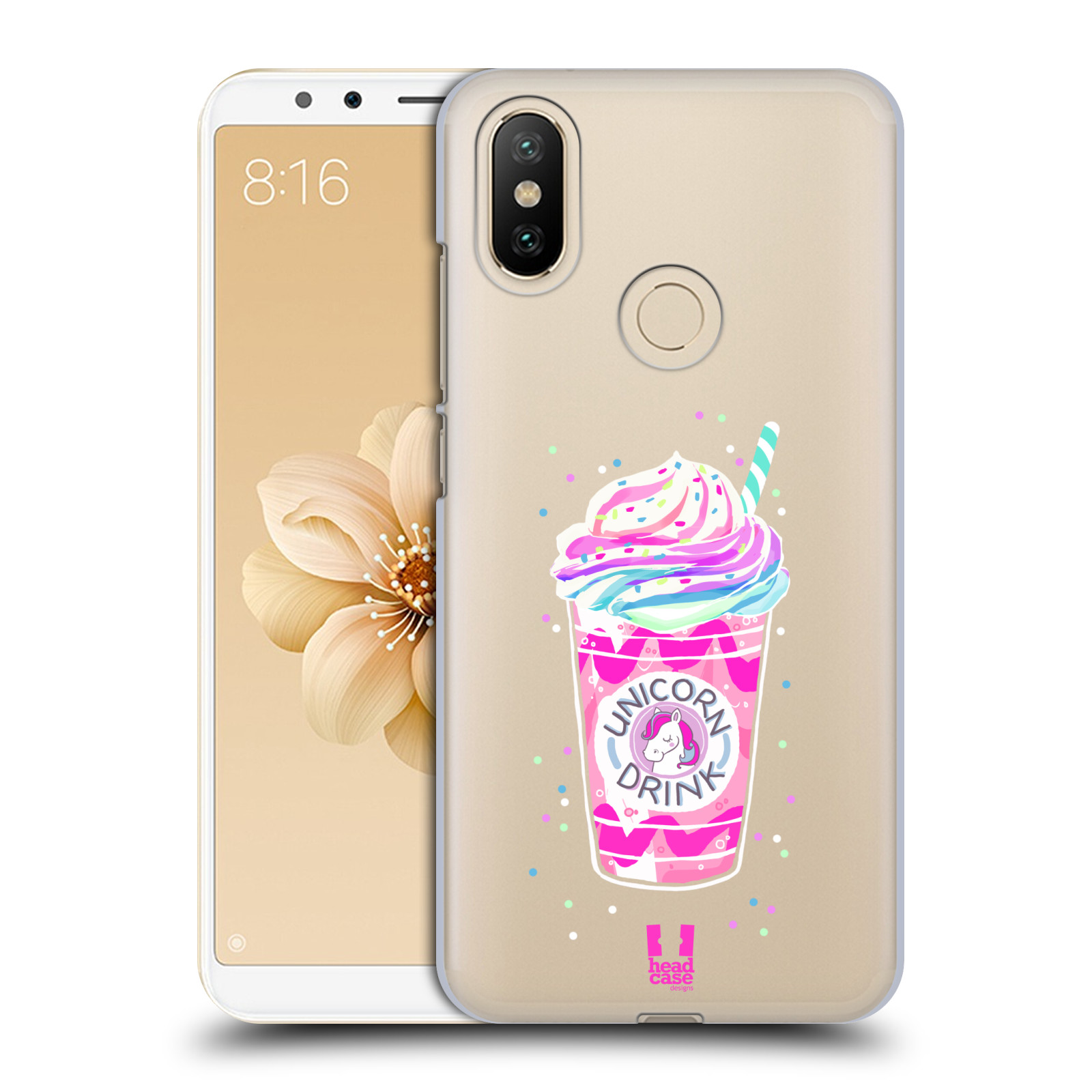 Plastové pouzdro na mobil Xiaomi Mi A2 - Head Case - Unicorn drink