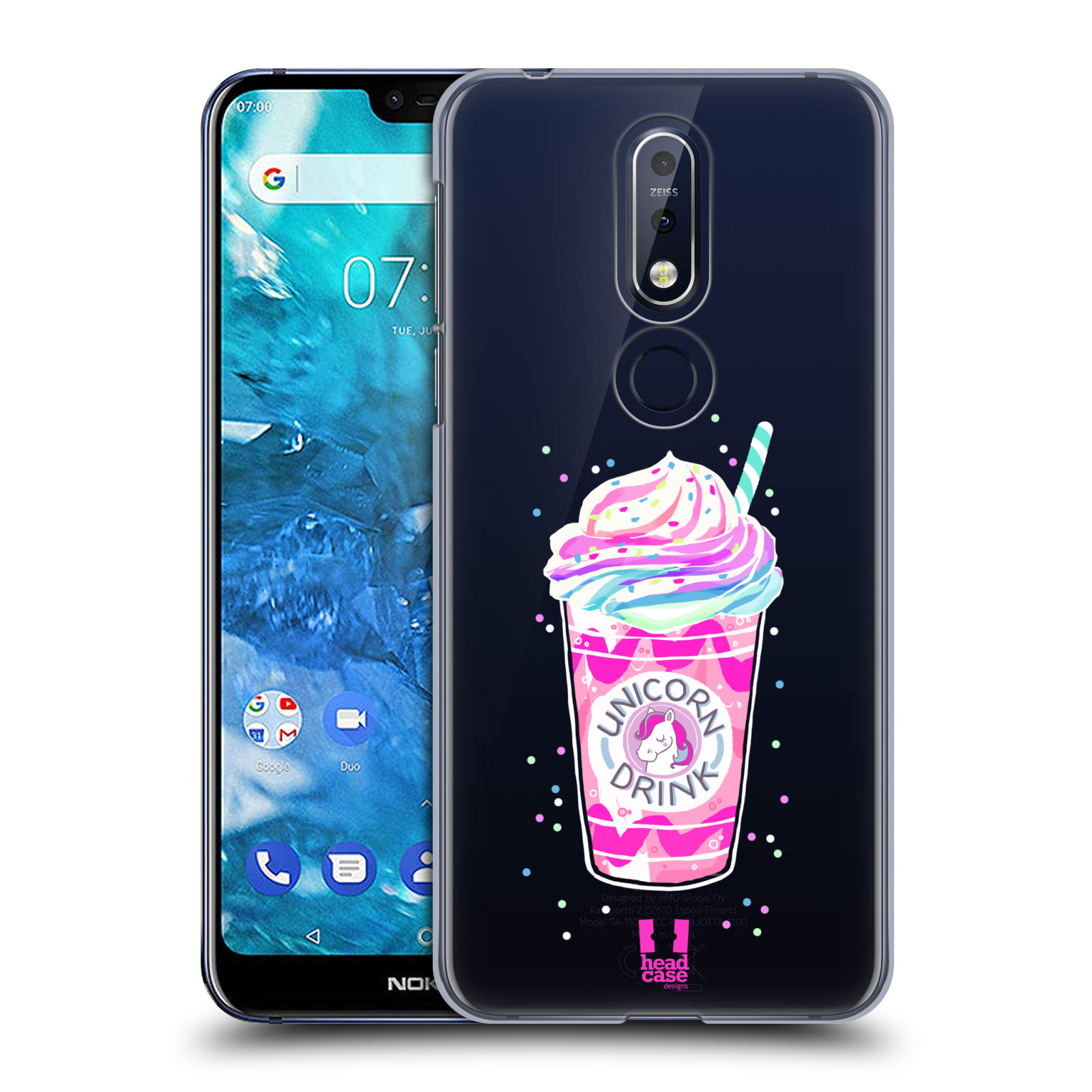Plastové pouzdro na mobil Nokia 7.1 - Head Case - Unicorn drink