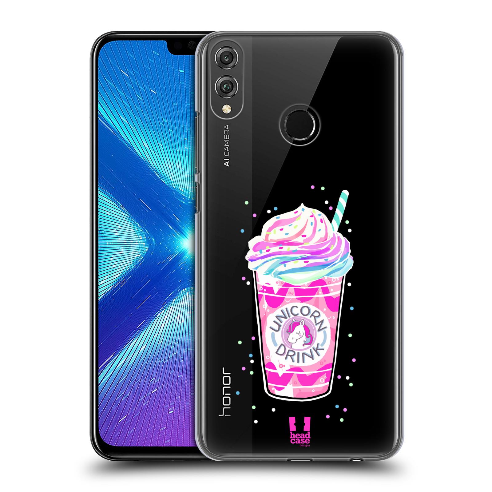 Plastové pouzdro na mobil Honor 8X - Head Case - Unicorn drink