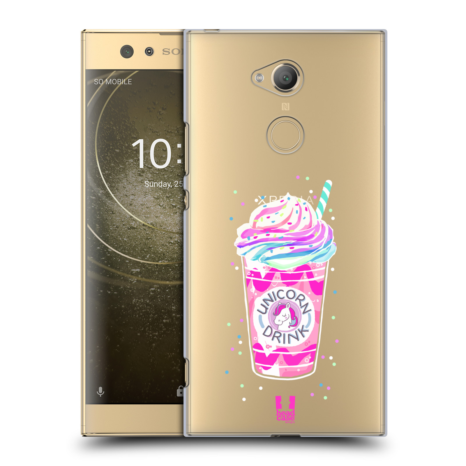Plastové pouzdro na mobil Sony Xperia XA2 Ultra - Head Case - Unicorn drink