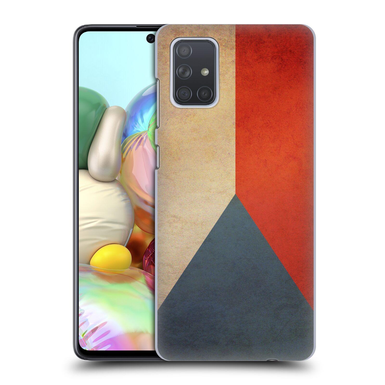 Plastové pouzdro na mobil Samsung Galaxy A71 - Head Case - VLAJKA ČESKÁ REPUBLIKA
