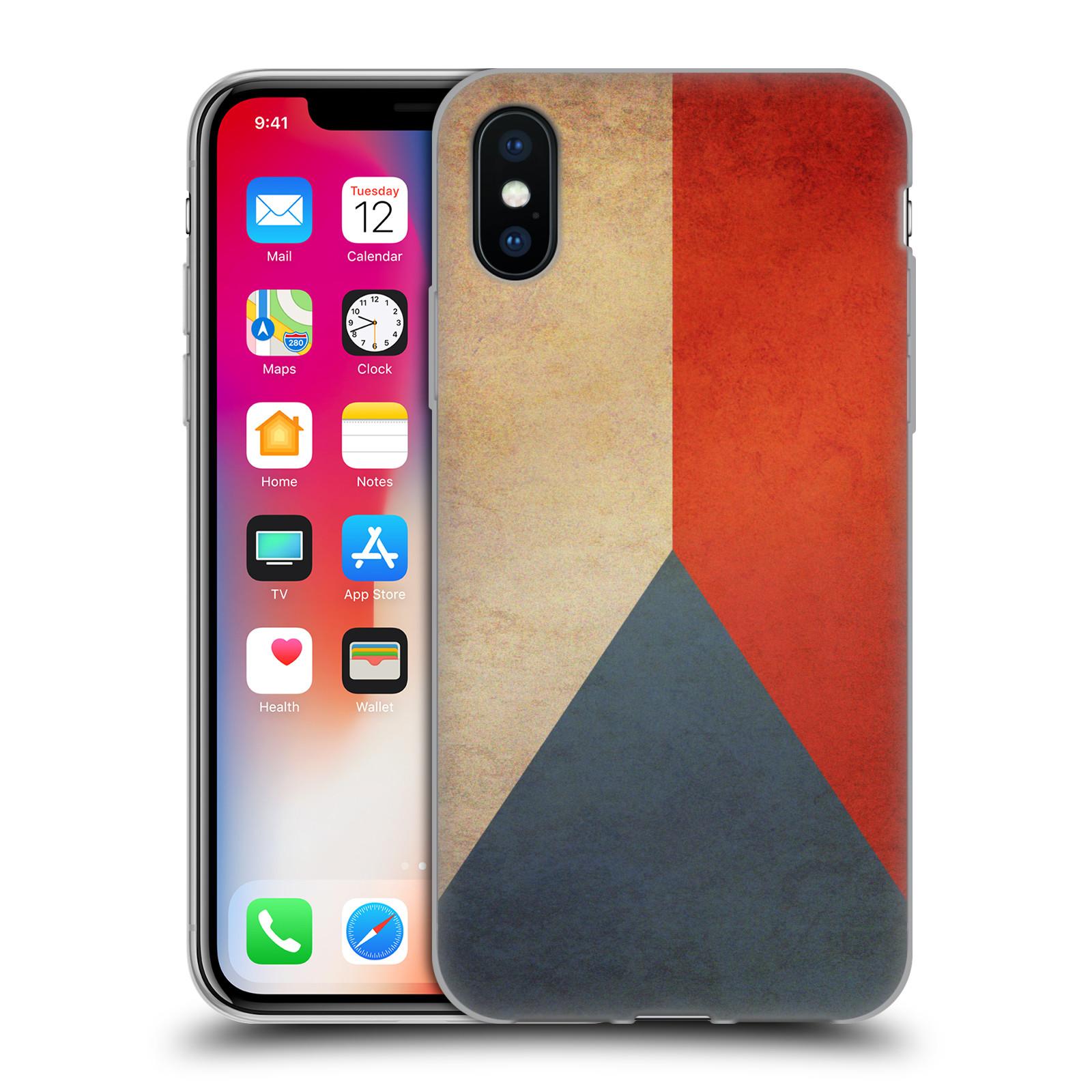 Silikonové pouzdro na mobil Apple iPhone XS - Head Case - VLAJKA ČESKÁ REPUBLIKA