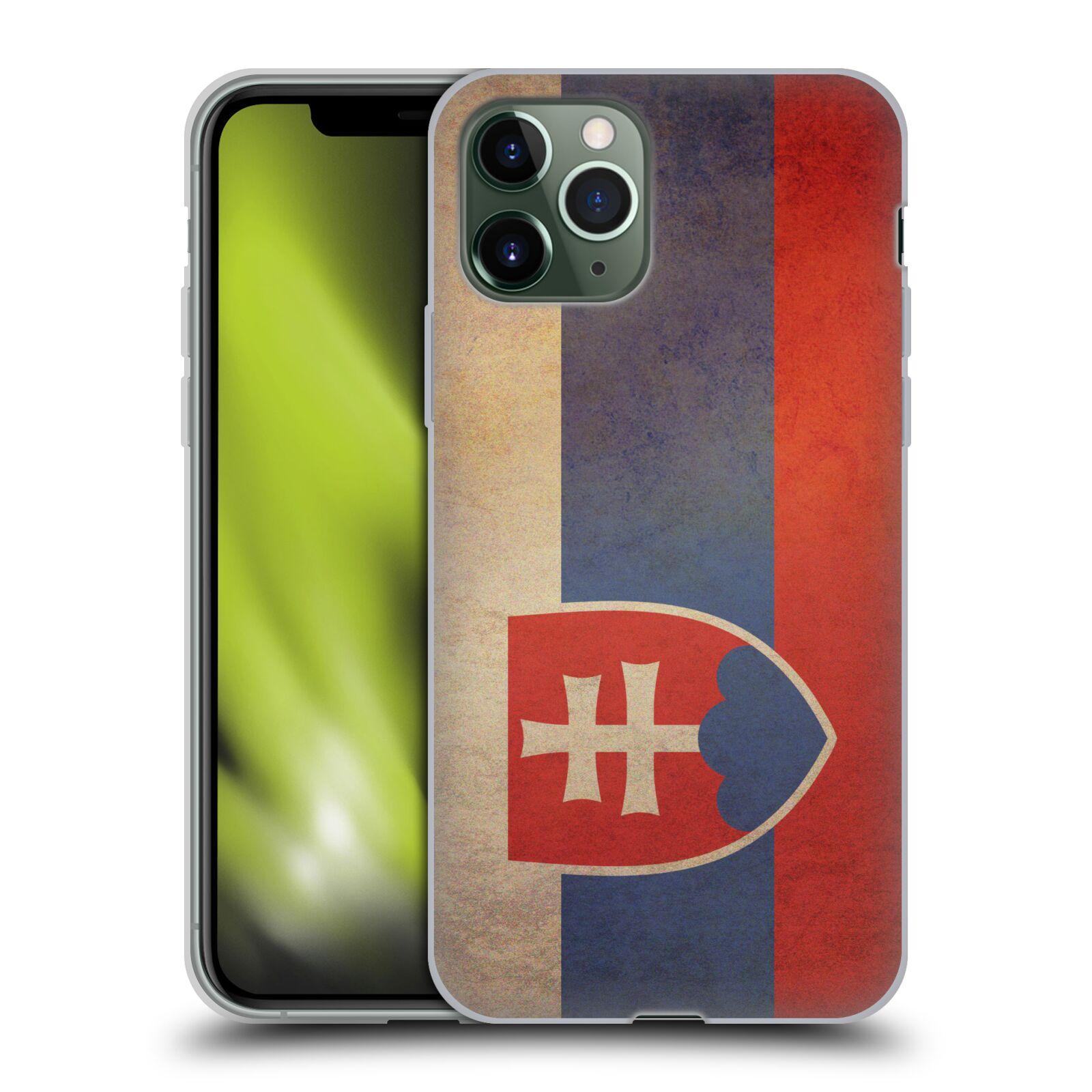 Silikonové pouzdro na mobil Apple iPhone 11 Pro - Head Case - VLAJKA SLOVENSKO