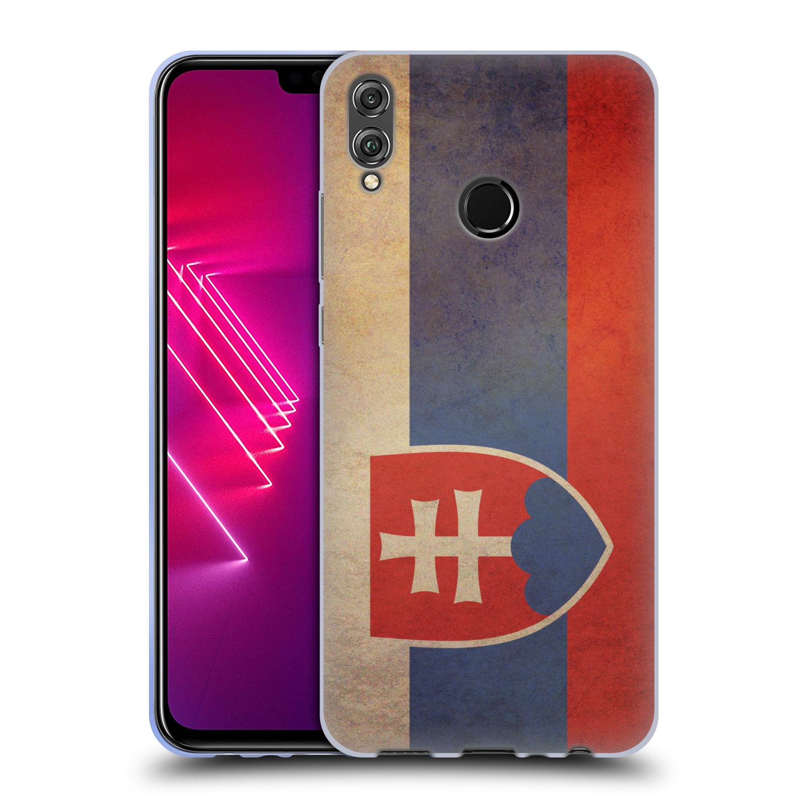 Silikonové pouzdro na mobil Honor 8X - Head Case - VLAJKA SLOVENSKO