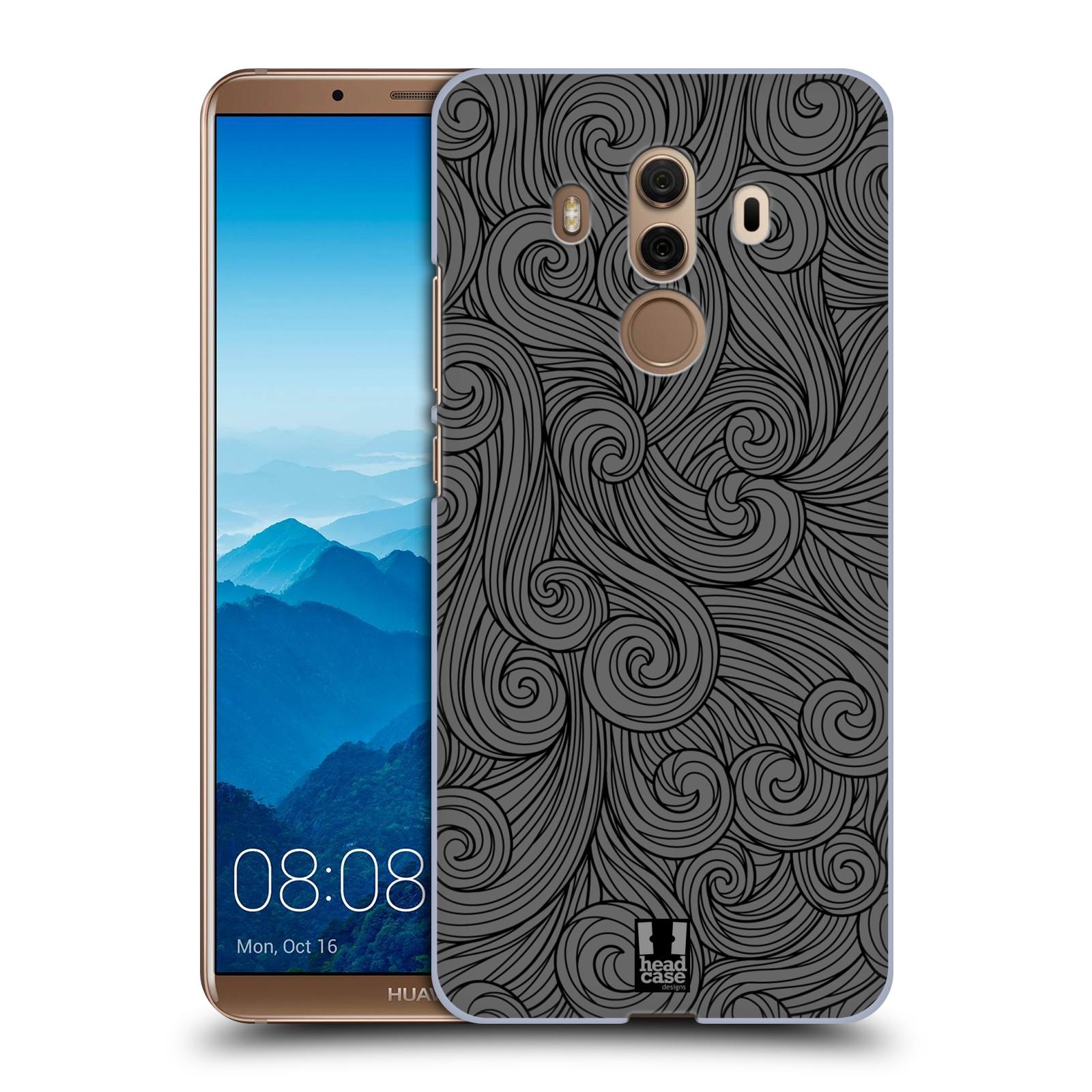 Plastové pouzdro na mobil Huawei Mate 10 Pro - Head Case - Dark Grey Swirls