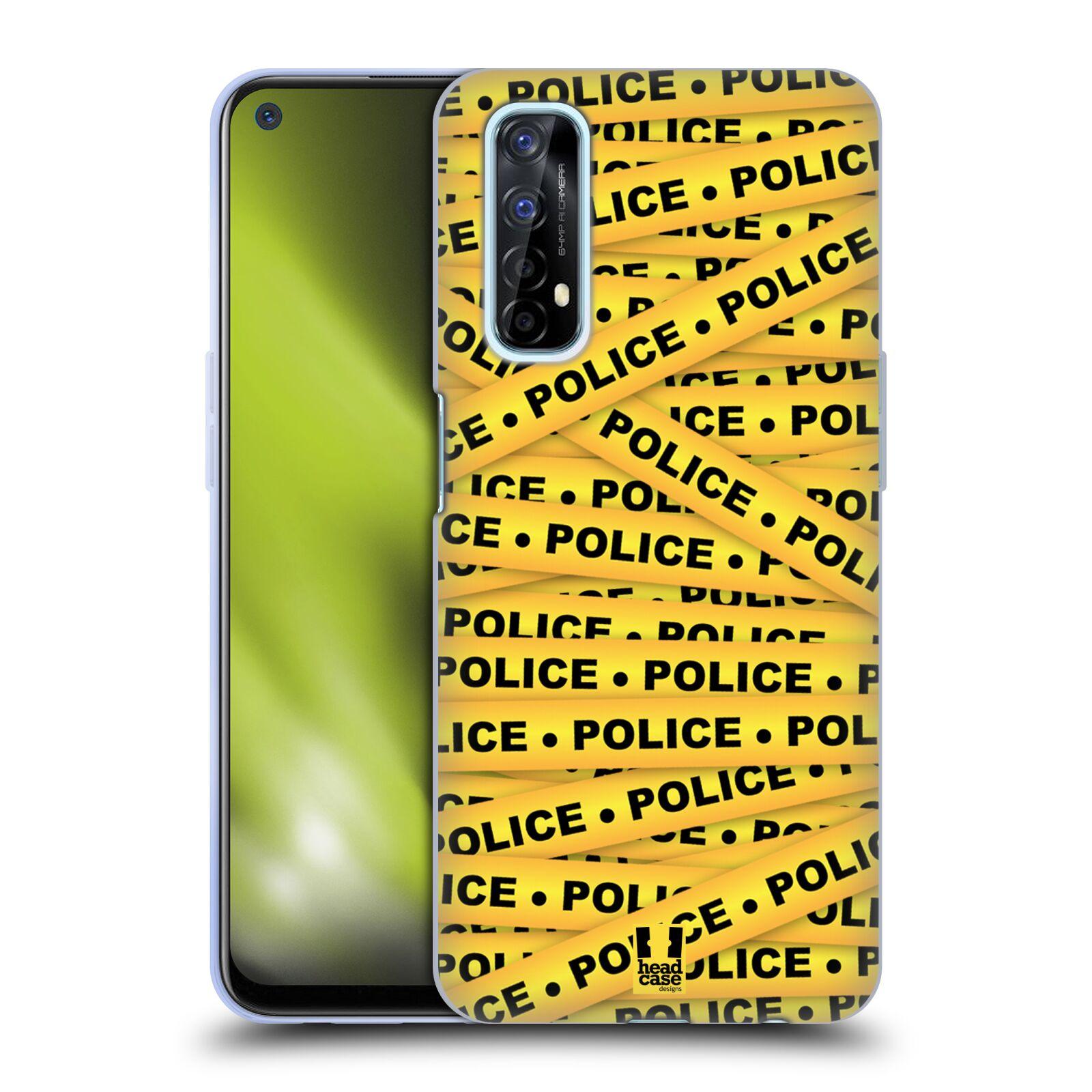 Silikonové pouzdro na mobil Realme 7 - Head Case - POLICEJNÍ PÁSKA