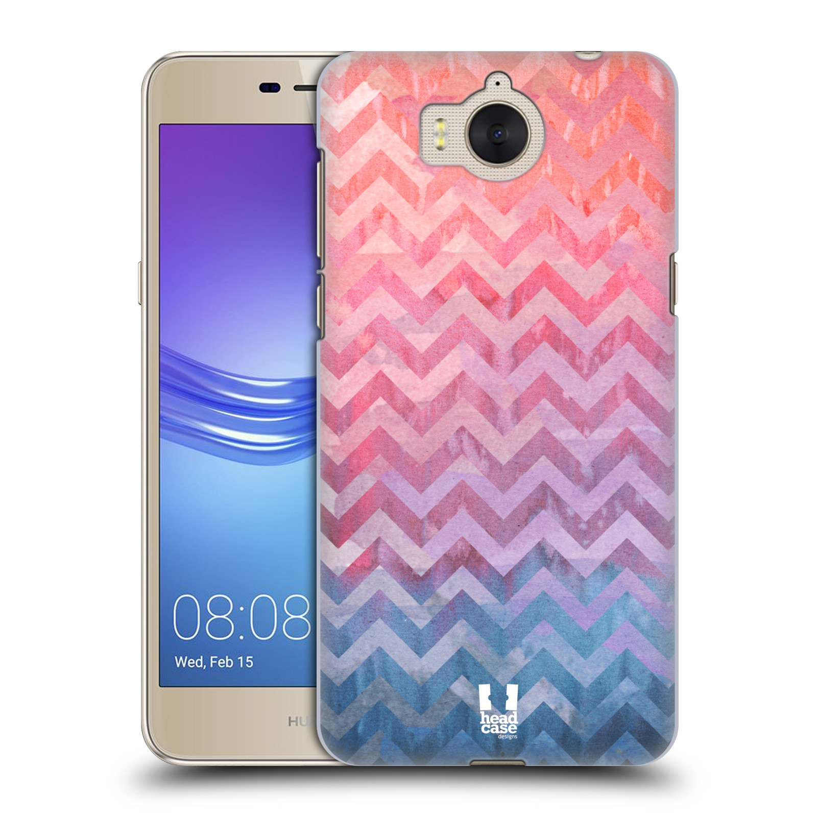 Plastové pouzdro na mobil Huawei Y6 2017 - Head Case - Pink Chevron