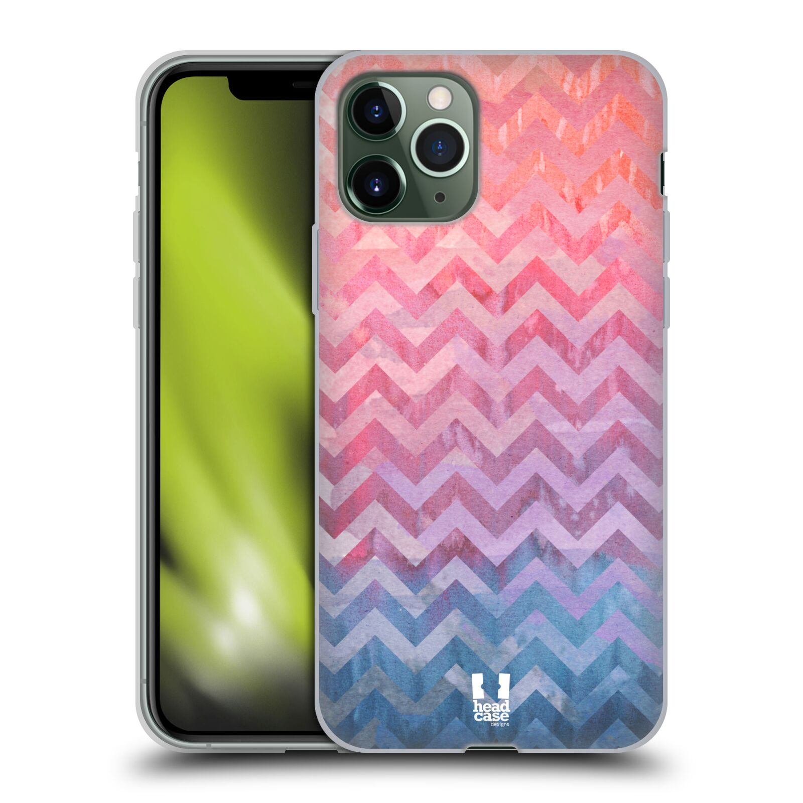 bazar obaly iphone 8 plus , Silikonové pouzdro na mobil Apple iPhone 11 Pro - Head Case - Pink Chevron