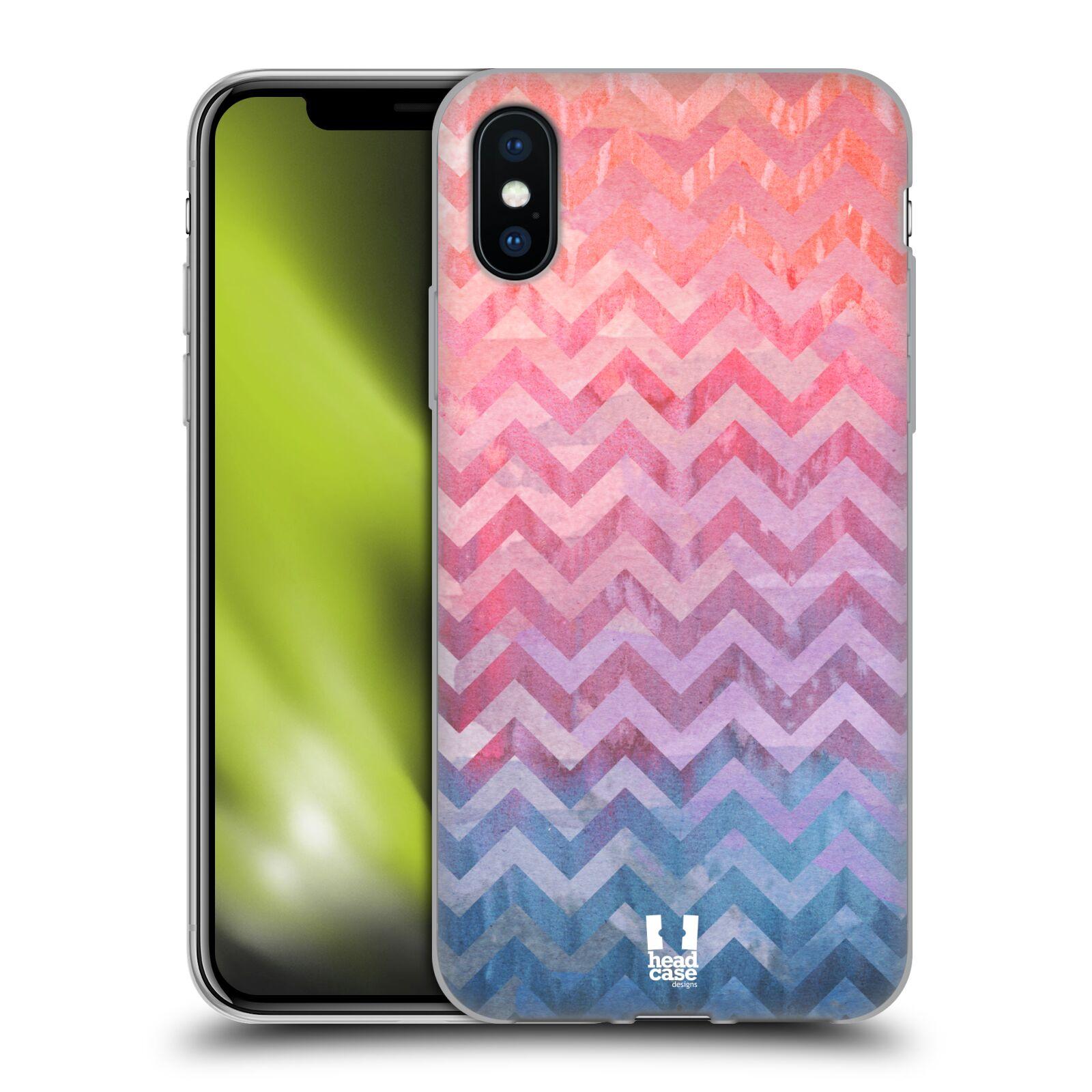Silikonové pouzdro na mobil Apple iPhone XS - Head Case - Pink Chevron