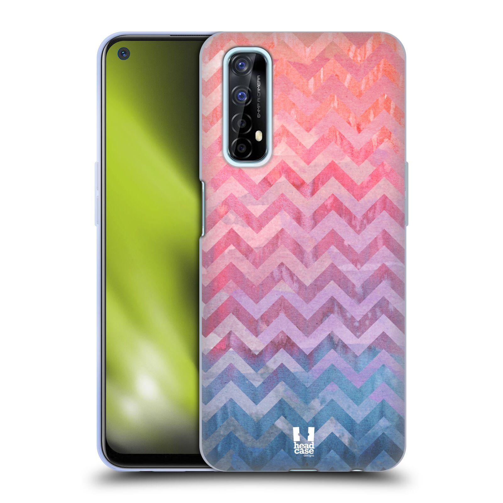 Silikonové pouzdro na mobil Realme 7 - Head Case - Pink Chevron