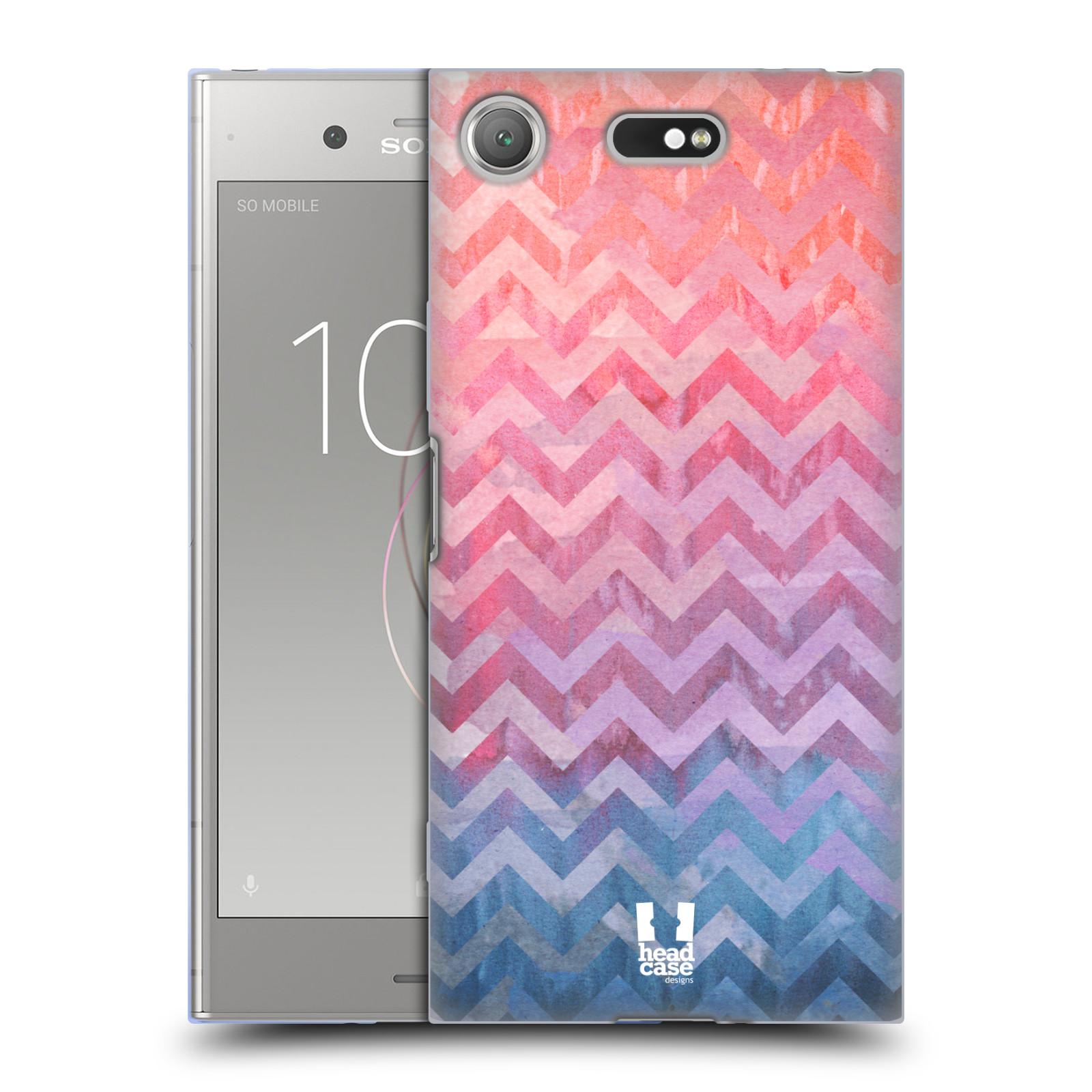 Silikonové pouzdro na mobil Sony Xperia XZ1 Compact - Head Case - Pink Chevron (Silikonový kryt či obal na mobilní telefon Sony Xperia XZ1 Compact G8441 s motivem Pink Chevron)