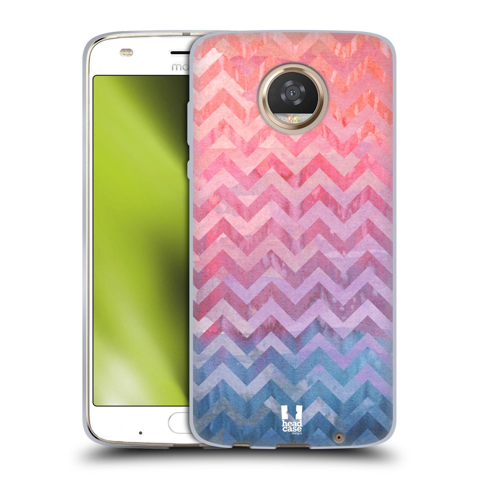 Silikonové pouzdro na mobil Lenovo Moto Z2 Play - Head Case - Pink Chevron (Silikonový kryt či obal na mobilní telefon Lenovo Moto Z2 Play s motivem Pink Chevron)