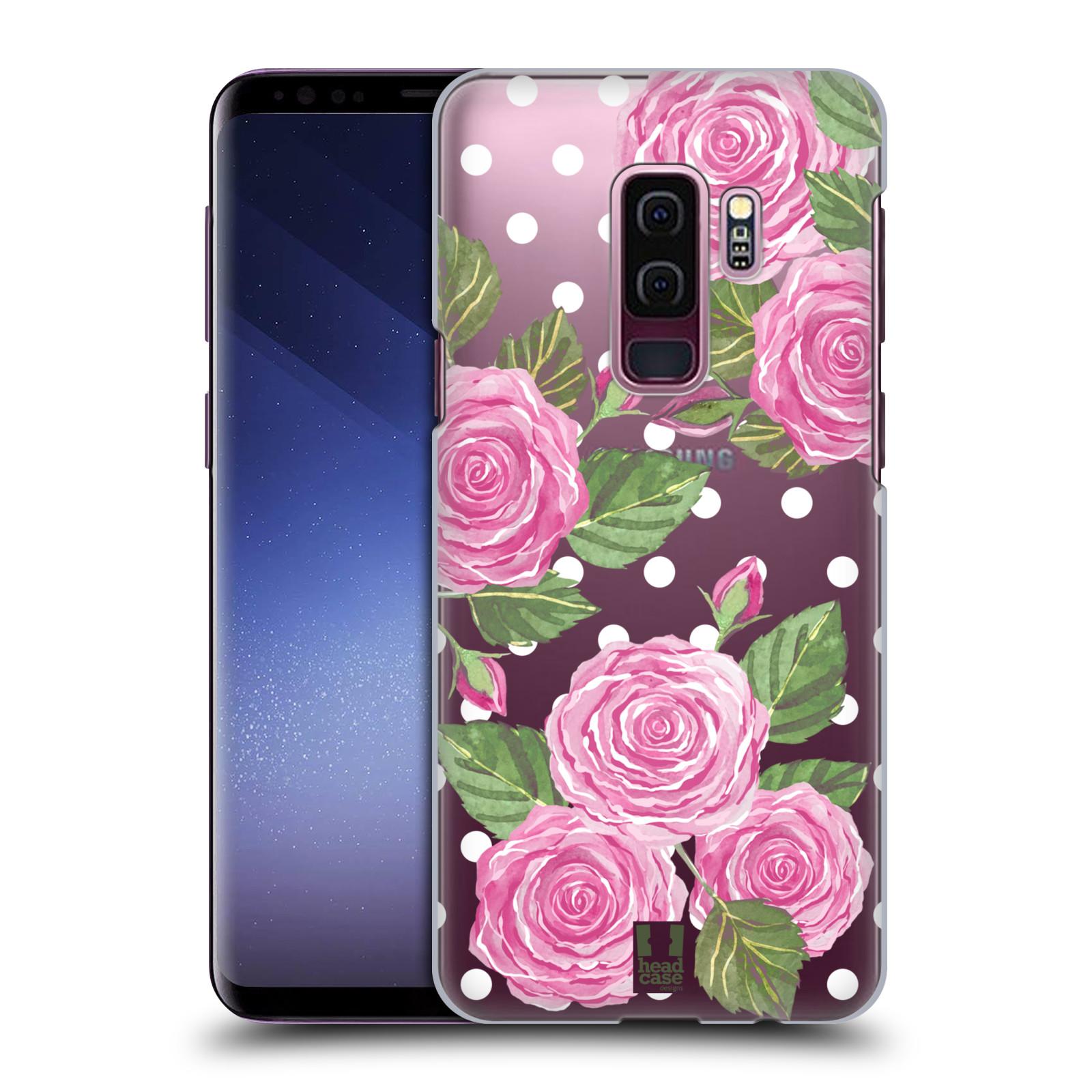 Plastové pouzdro na mobil Samsung Galaxy S9 Plus - Head Case - Hezoučké růžičky - průhledné