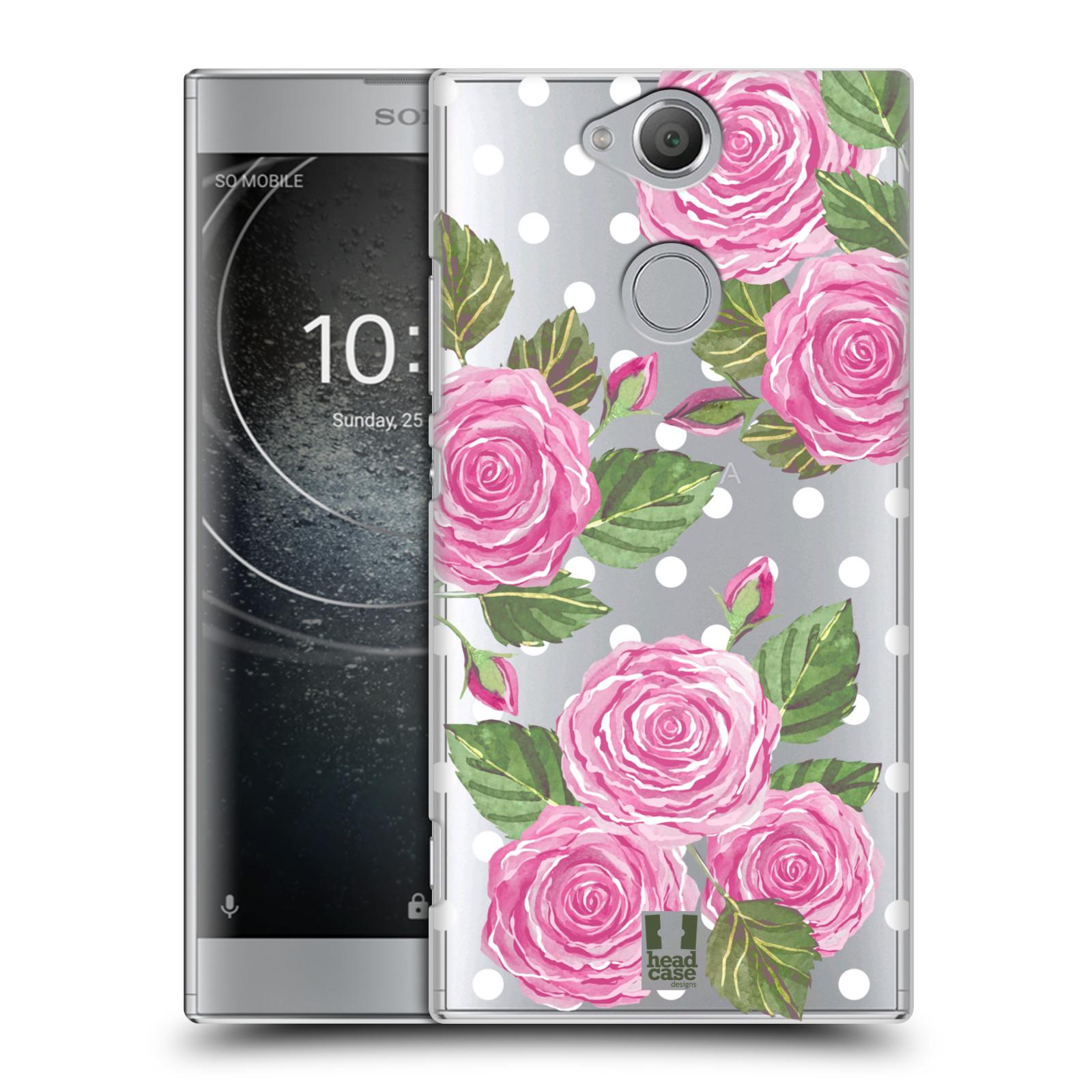 Plastové pouzdro na mobil Sony Xperia XA2 - Head Case - Hezoučké růžičky - průhledné