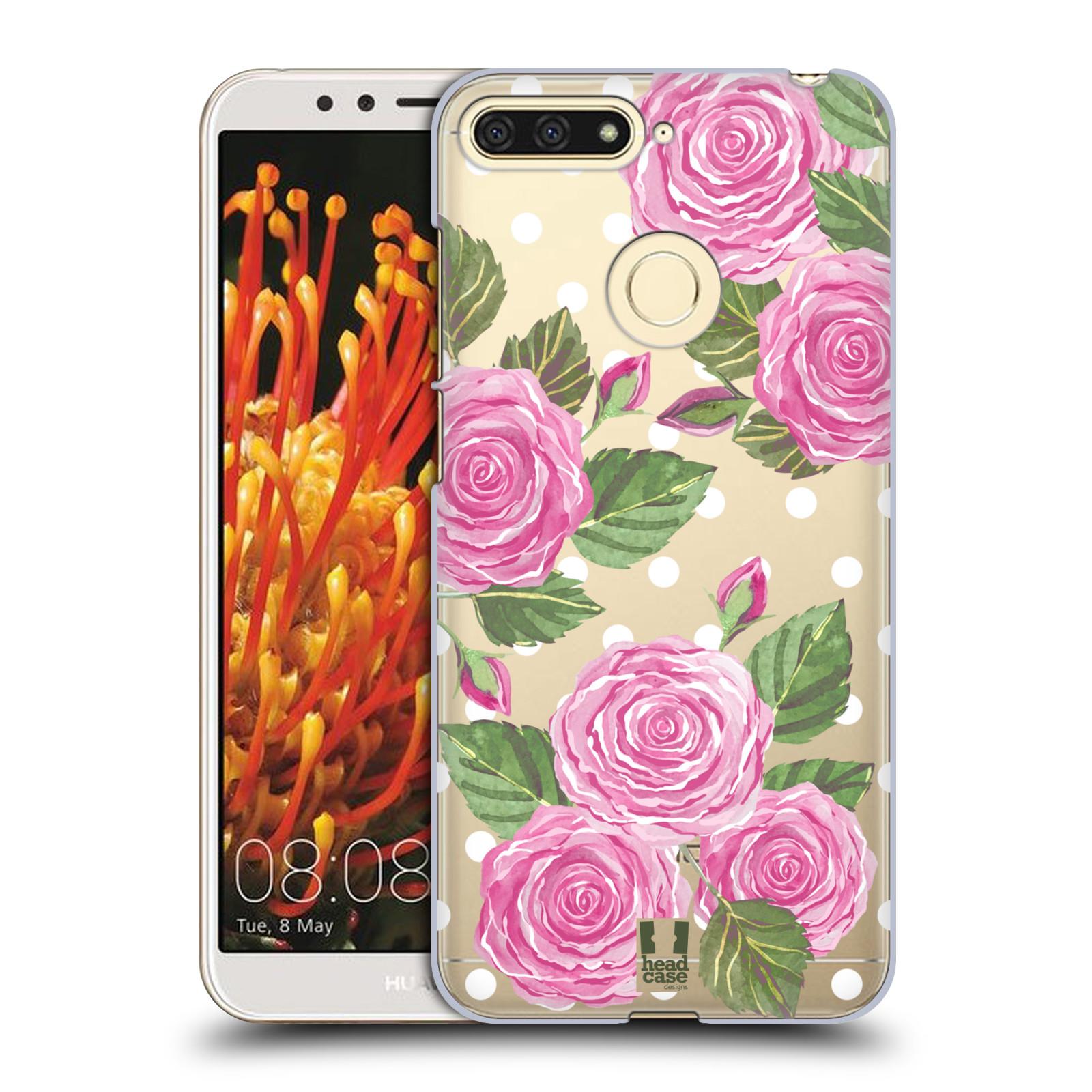 Plastové pouzdro na mobil Huawei Y6 Prime 2018 - Head Case - Hezoučké růžičky - průhledné
