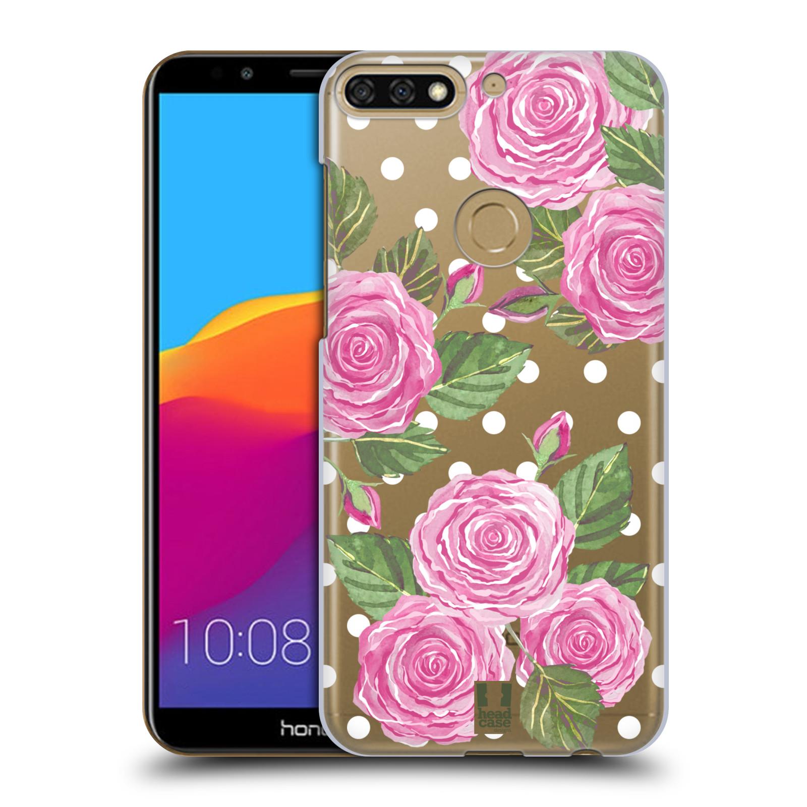 Plastové pouzdro na mobil Huawei Y7 Prime 2018 - Head Case - Hezoučké růžičky - průhledné