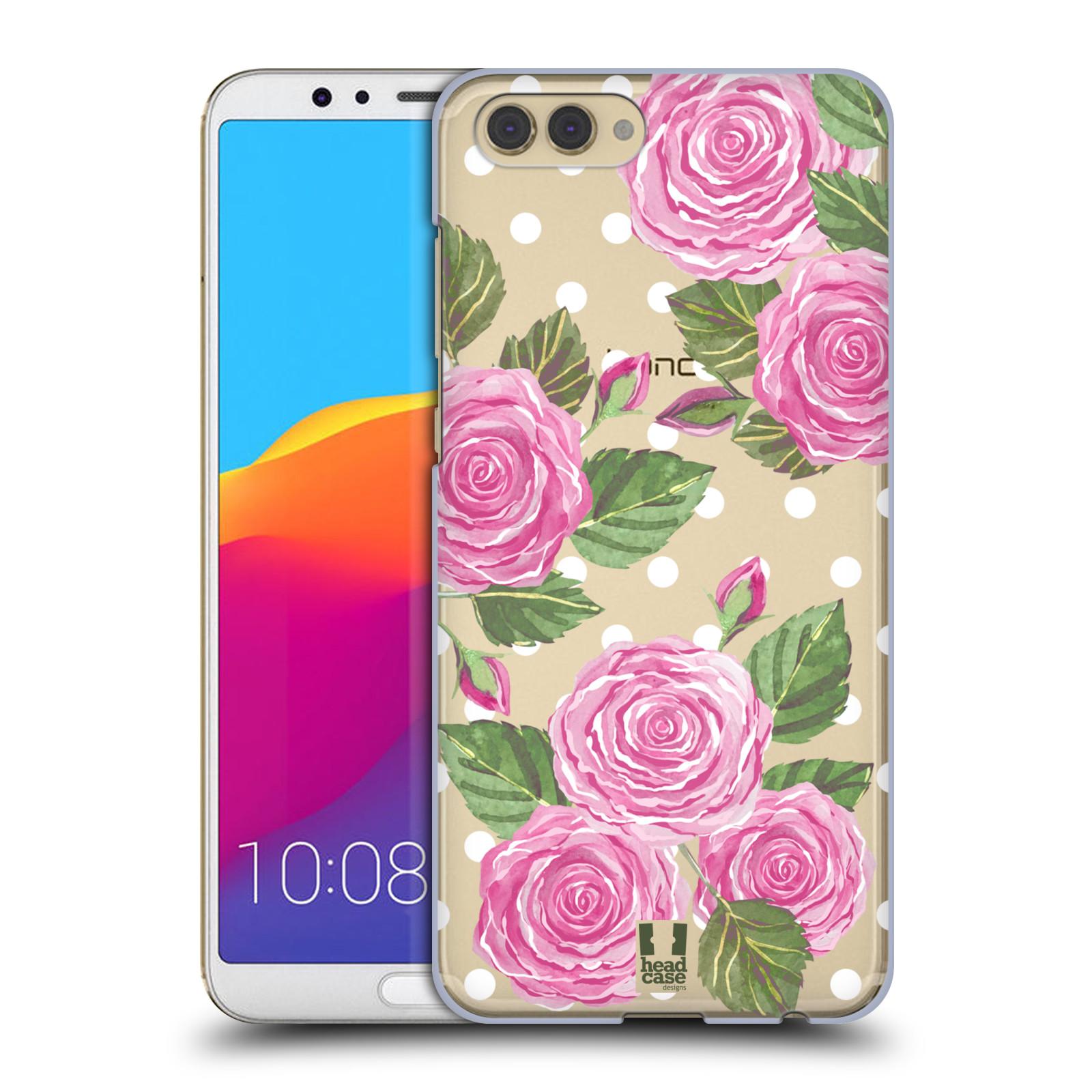 Plastové pouzdro na mobil Honor View 10 - Head Case - Hezoučké růžičky - průhledné