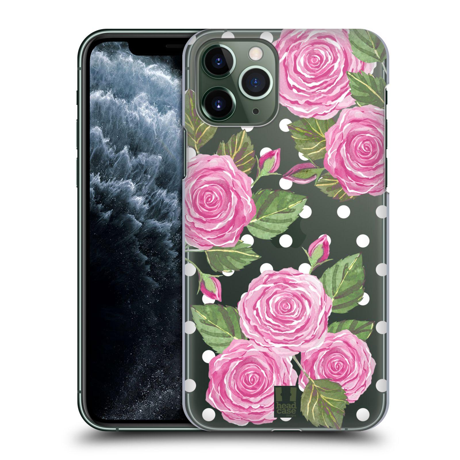 kožené obaly iphone 8 plus , Plastové pouzdro na mobil Apple iPhone 11 Pro - Head Case - Hezoučké růžičky - průhledné