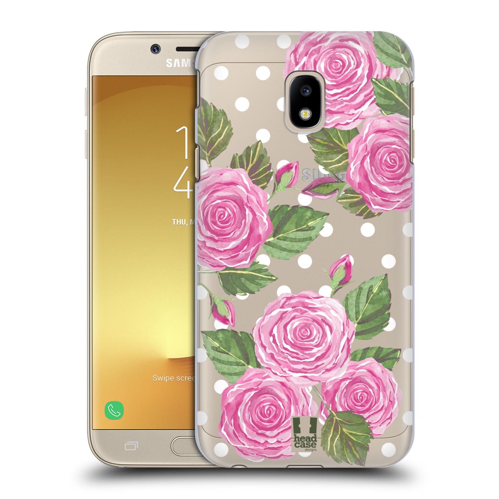 Plastové pouzdro na mobil Samsung Galaxy J3 (2017) - Head Case - Hezoučké růžičky - průhledné