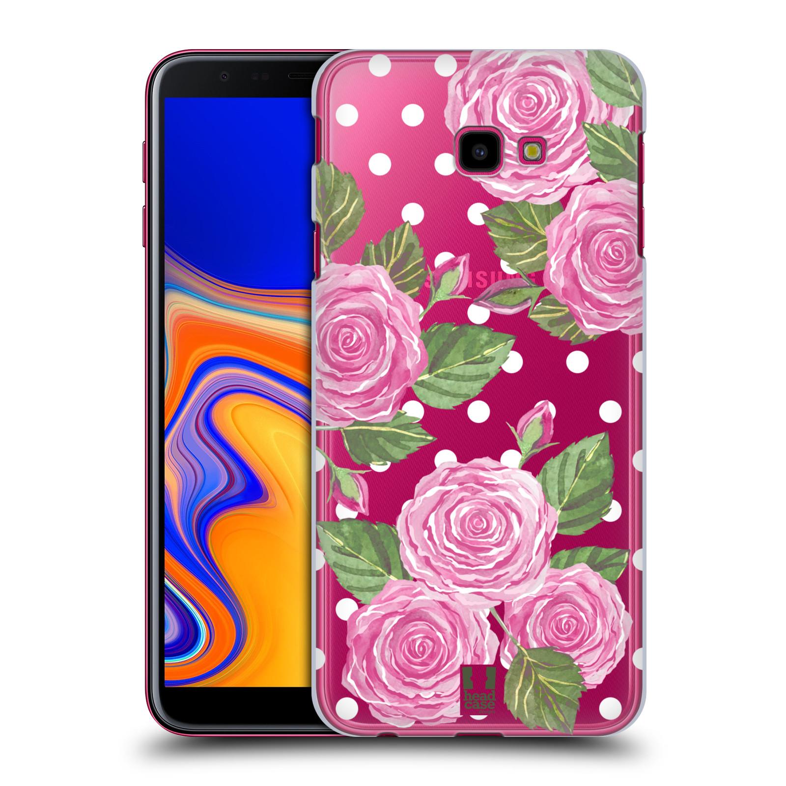 Plastové pouzdro na mobil Samsung Galaxy J4 Plus - Head Case - Hezoučké růžičky - průhledné