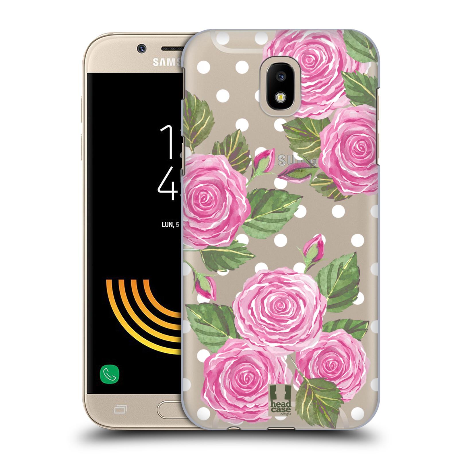 Plastové pouzdro na mobil Samsung Galaxy J5 (2017) - Head Case - Hezoučké růžičky - průhledné
