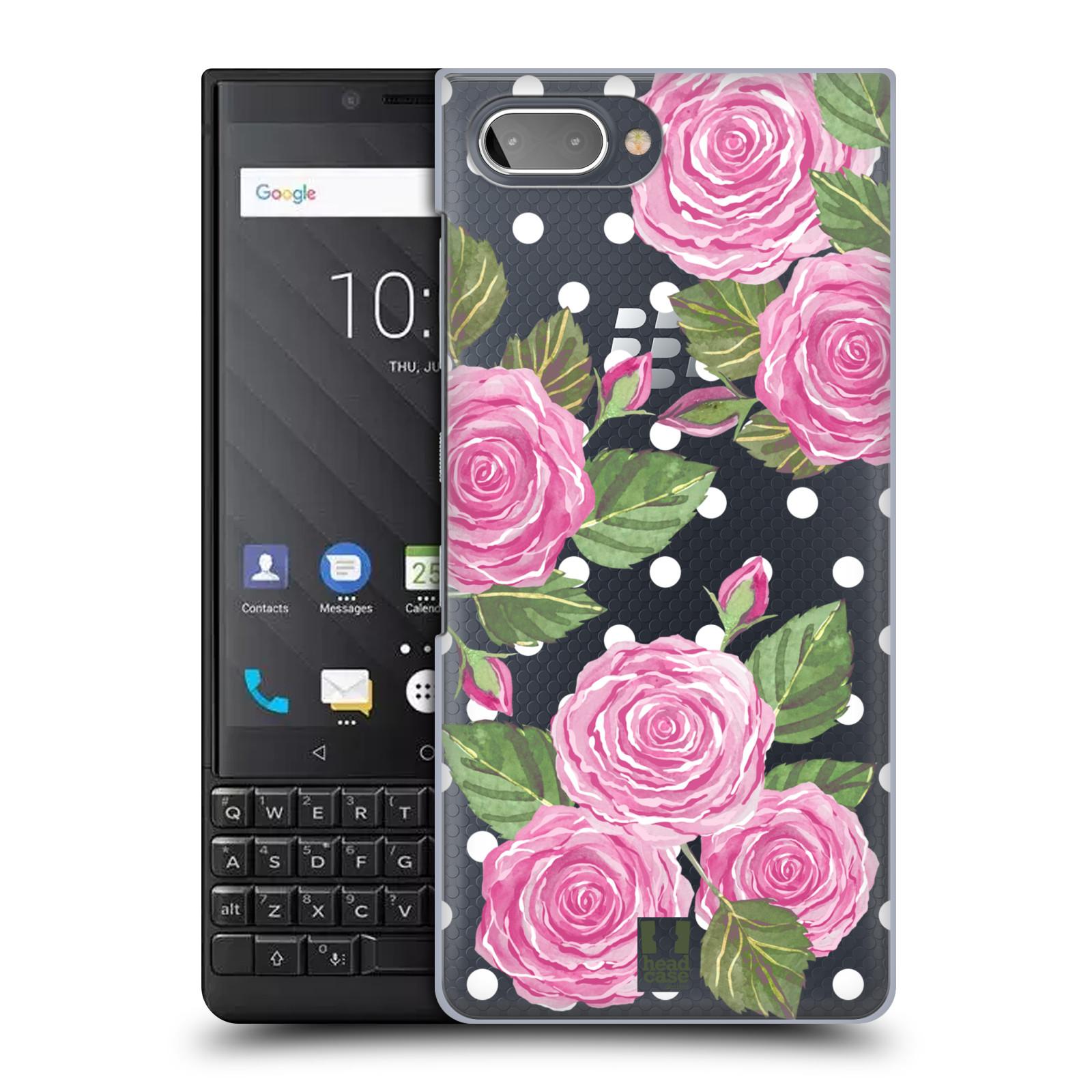 Plastové pouzdro na mobil Blackberry Key 2 - Head Case - Hezoučké růžičky - průhledné