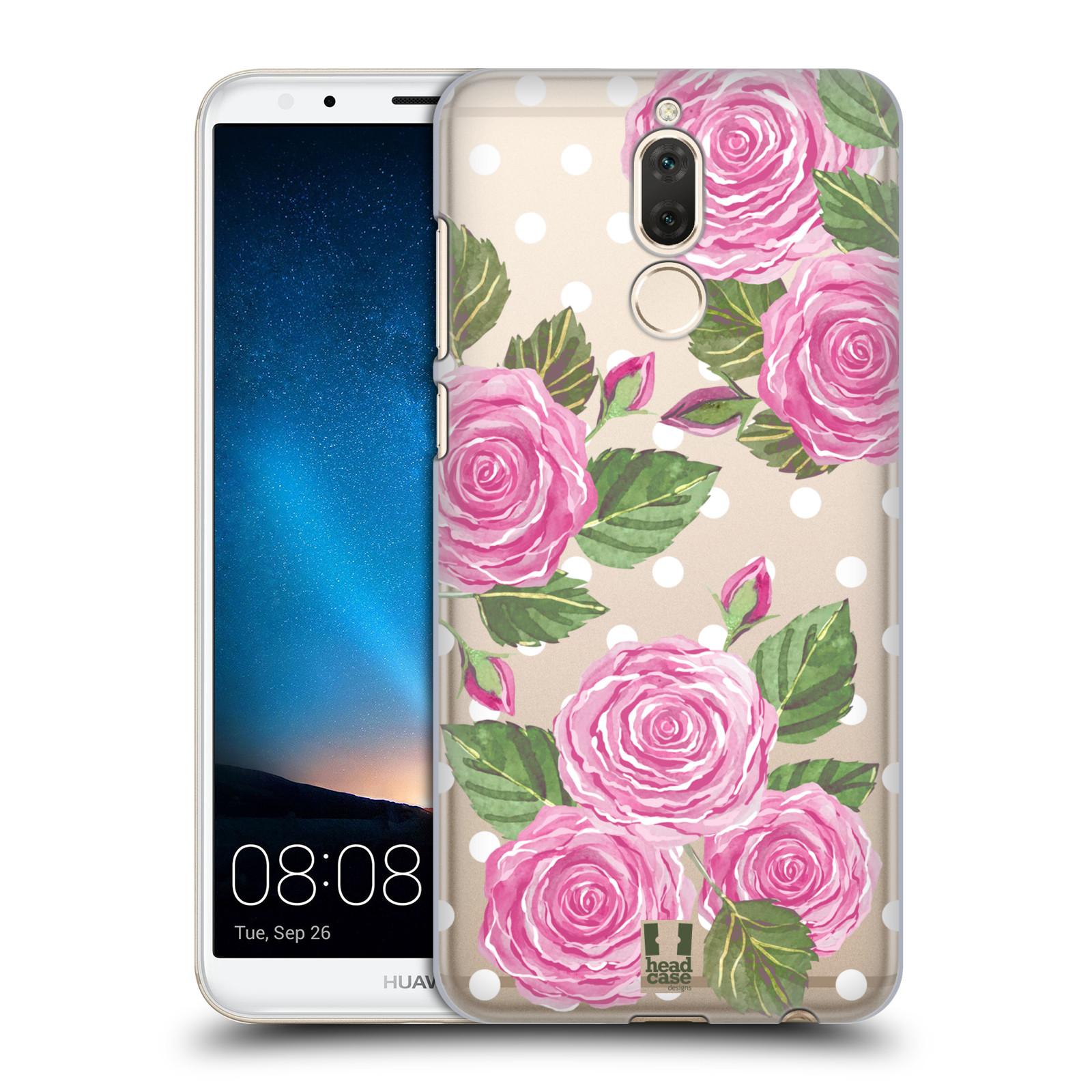 Plastové pouzdro na mobil Huawei Mate 10 Lite - Head Case - Hezoučké růžičky - průhledné