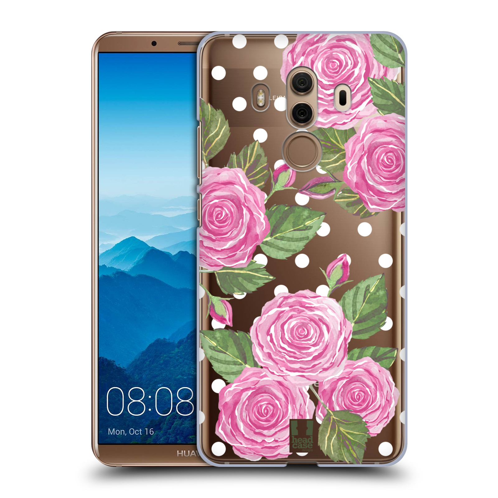 Plastové pouzdro na mobil Huawei Mate 10 Pro - Head Case - Hezoučké růžičky - průhledné