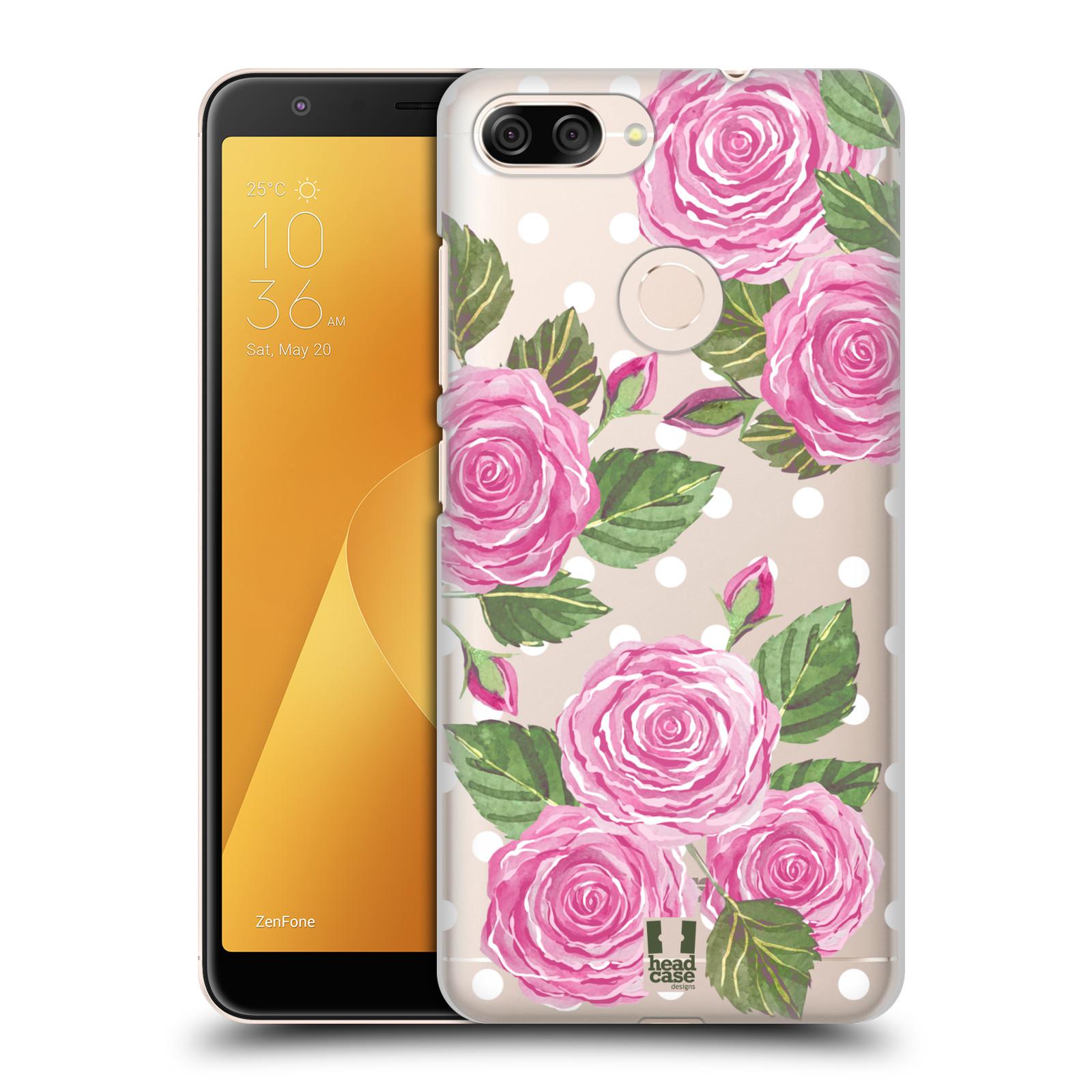 Plastové pouzdro na mobil Asus ZenFone Max Plus (M1) - Head Case - Hezoučké růžičky - průhledné