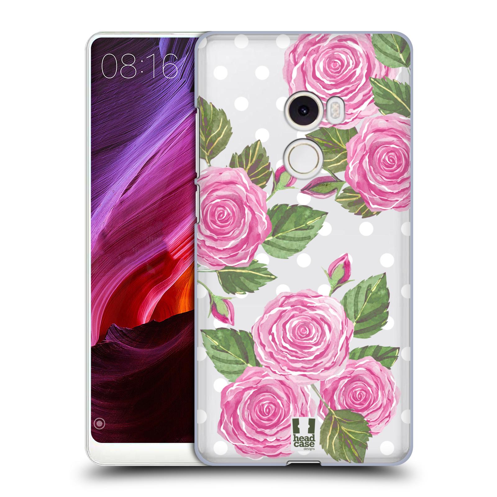Plastové pouzdro na mobil Xiaomi Mi Mix 2 - Head Case - Hezoučké růžičky - průhledné