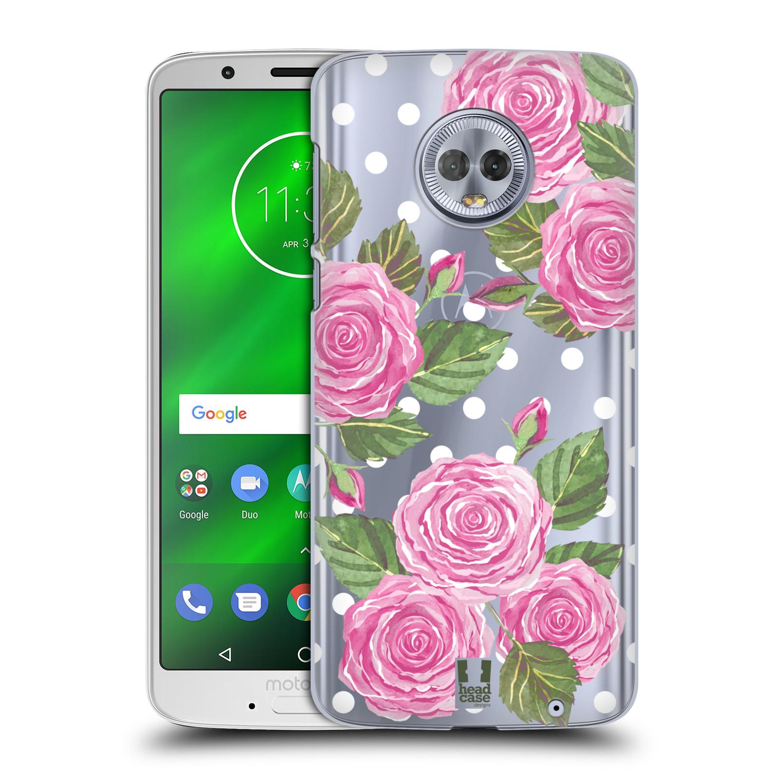 Plastové pouzdro na mobil Motorola Moto G6 Plus - Head Case - Hezoučké růžičky - průhledné