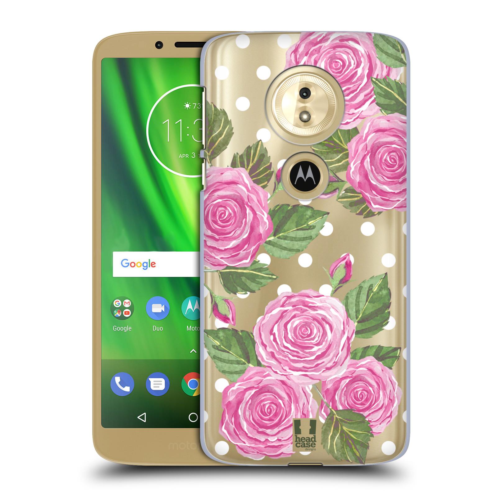 Plastové pouzdro na mobil Motorola Moto G6 Play - Head Case - Hezoučké růžičky - průhledné