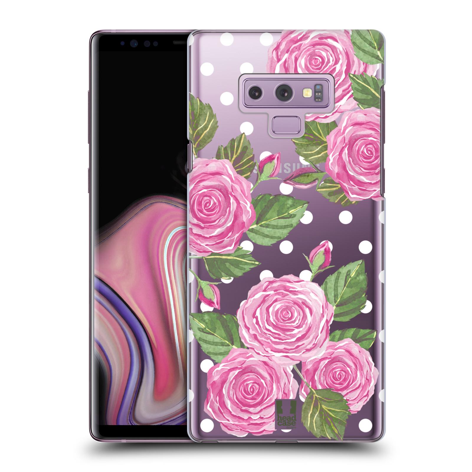 Plastové pouzdro na mobil Samsung Galaxy Note 9 - Head Case - Hezoučké růžičky - průhledné