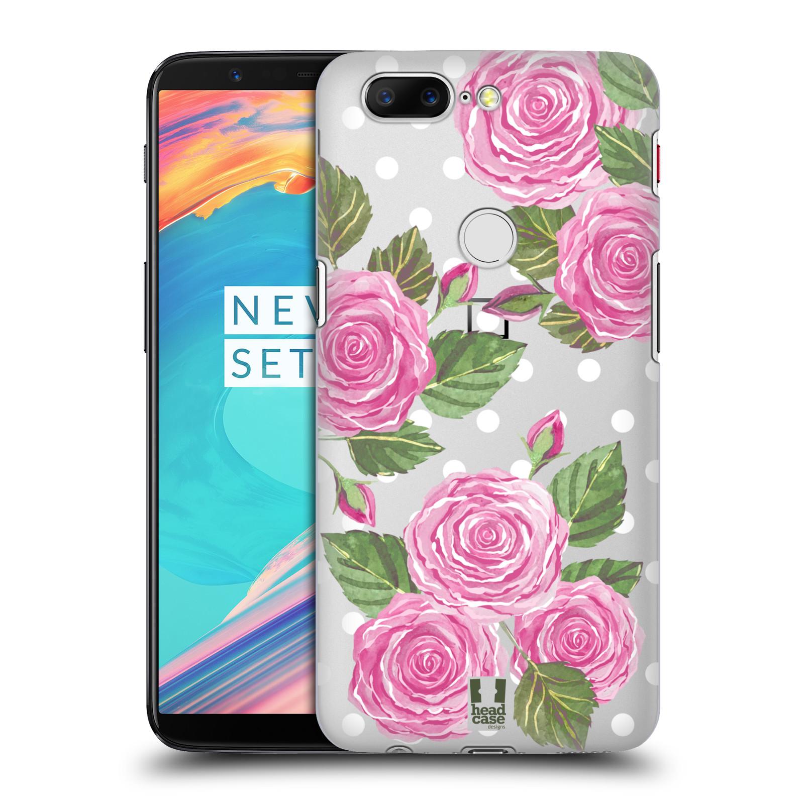 Plastové pouzdro na mobil OnePlus 5T - Head Case - Hezoučké růžičky - průhledné